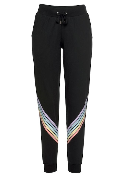 Hosen für Frauen - Sweathose 'Rainbow' › Buffalo › hellblau hellgelb helllila hellorange schwarz  - Onlineshop ABOUT YOU
