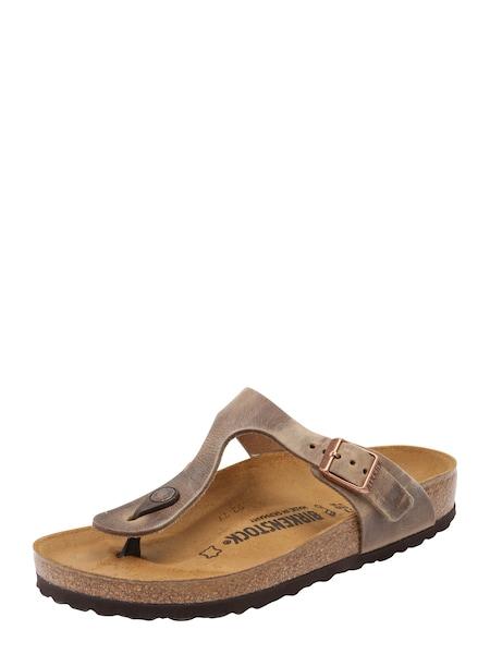 Sandalen für Frauen - BIRKENSTOCK Zehentrenner 'Gizeh' braun  - Onlineshop ABOUT YOU