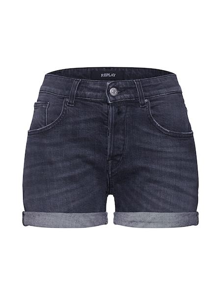 Hosen für Frauen - REPLAY Shorts grey denim  - Onlineshop ABOUT YOU