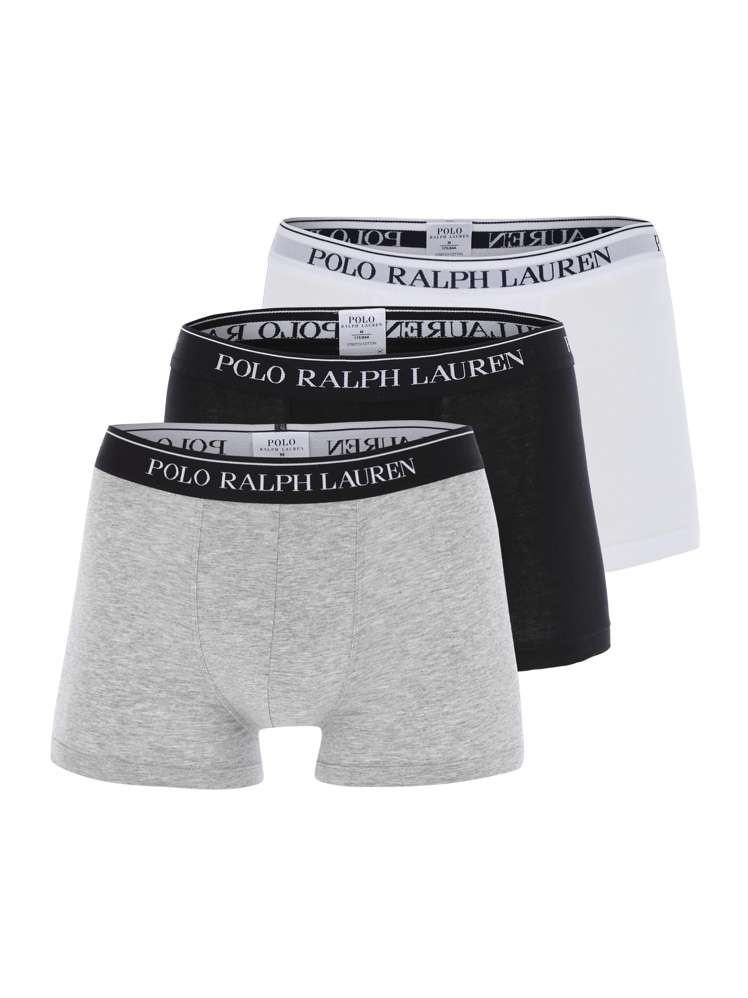 POLO RALPH LAUREN Boxerky 'CLASSIC'  sivá / čierna / biela