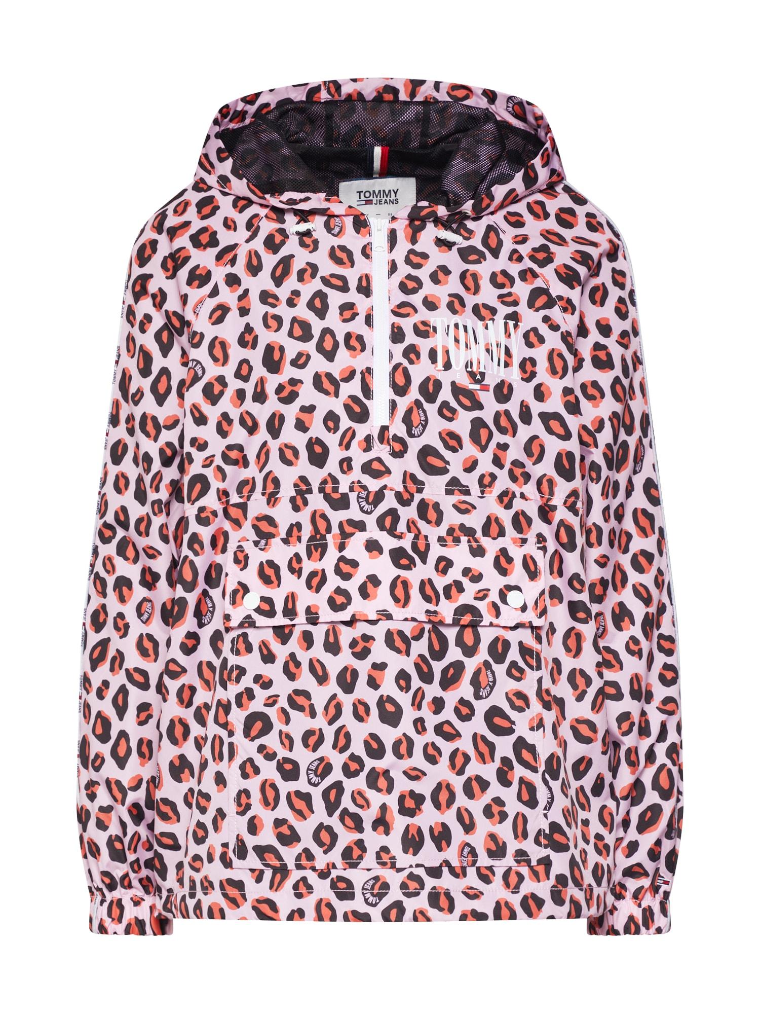 Přechodná bunda PRINT PIPING mix barev růžová bílá Tommy Jeans
