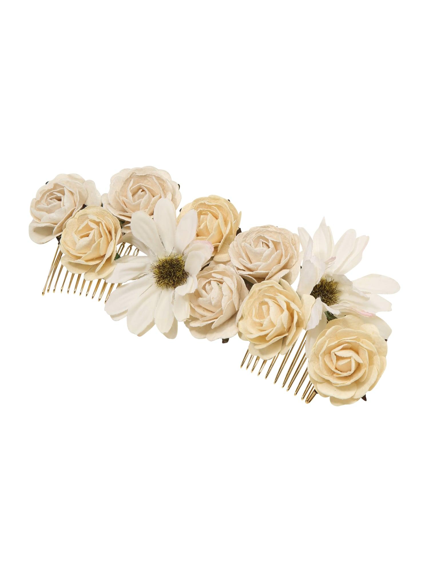LILY AND ROSE Plaukų papuošalas 'Rosie' rožių spalva / kremo