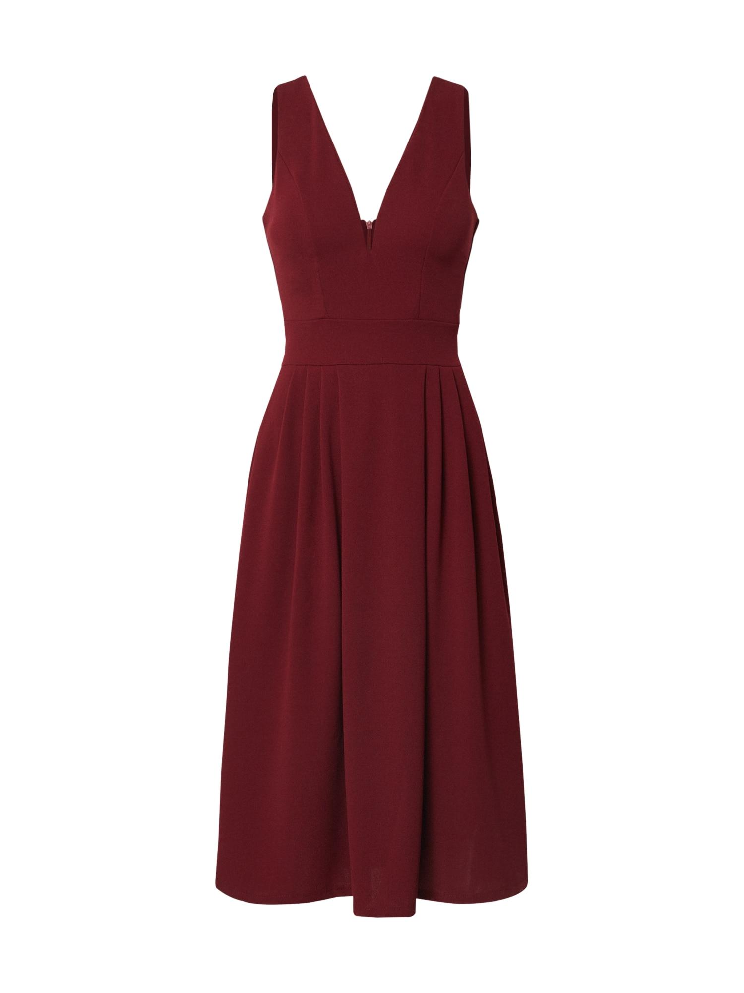 WAL G. Kokteilinė suknelė vyno raudona spalva