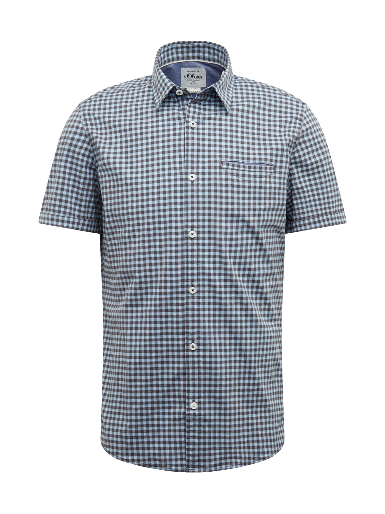 s.Oliver Dalykiniai marškiniai mėlyna / juoda