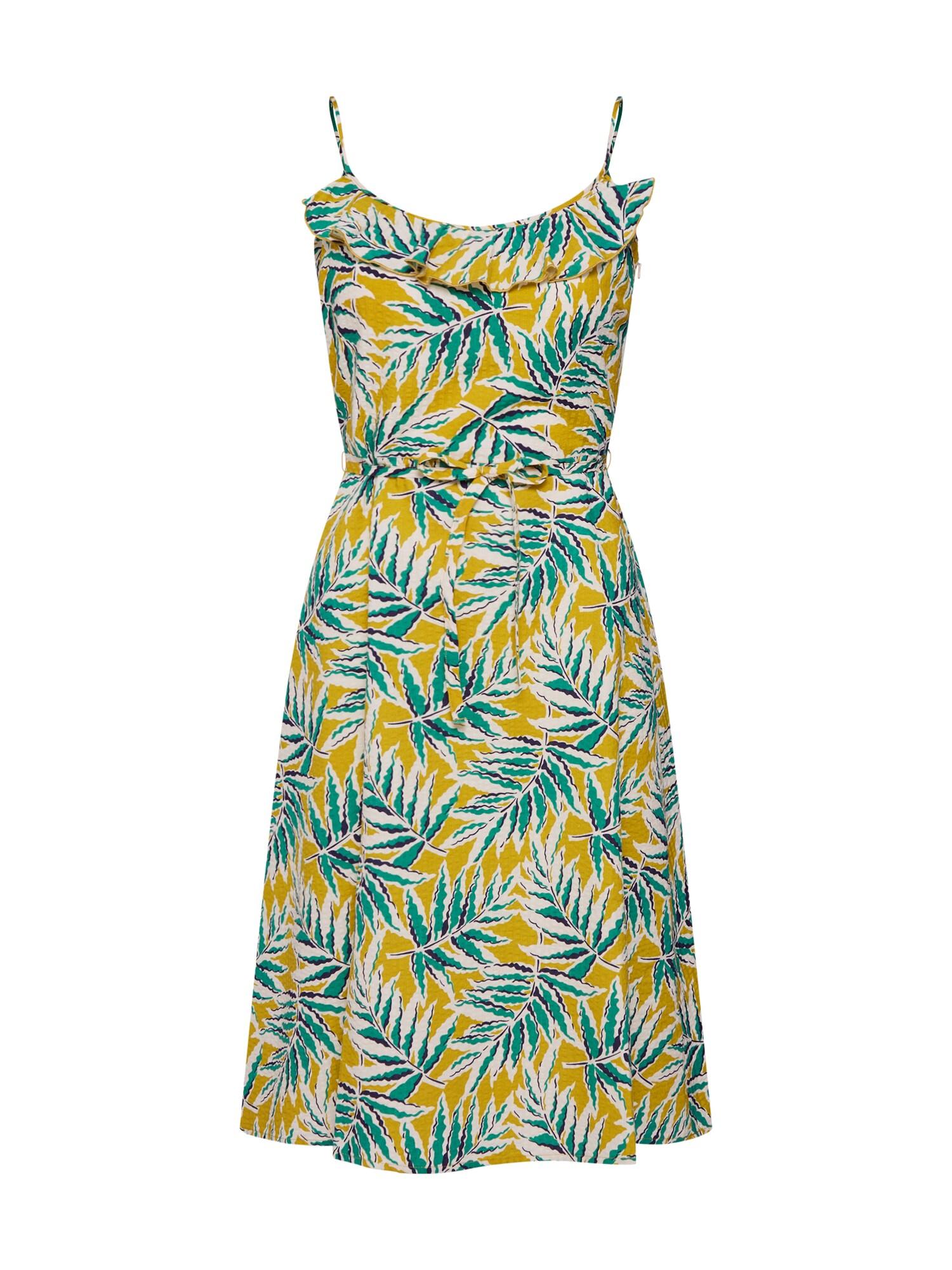 Letní šaty Viola Ruffle tmavě zelená King Louie