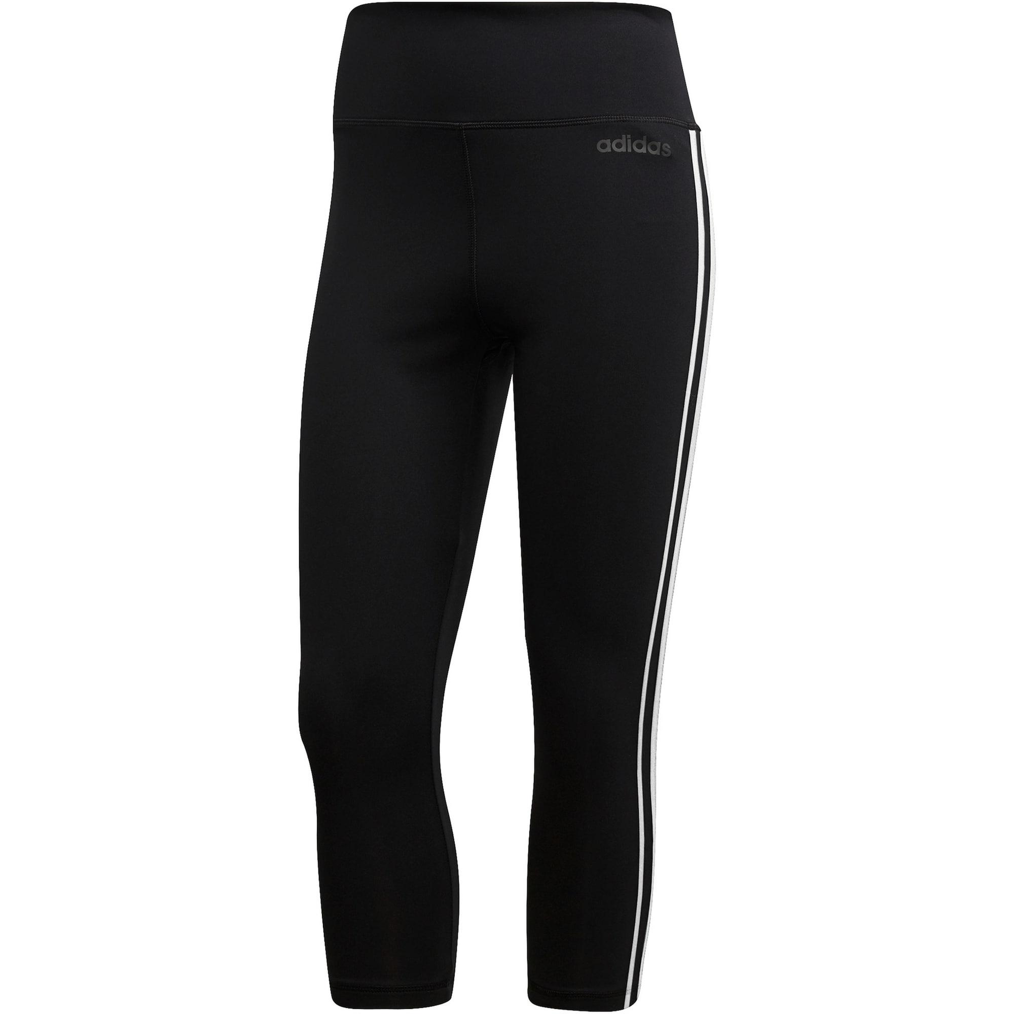 ADIDAS PERFORMANCE Športové nohavice 'D2M'  čierna / biela