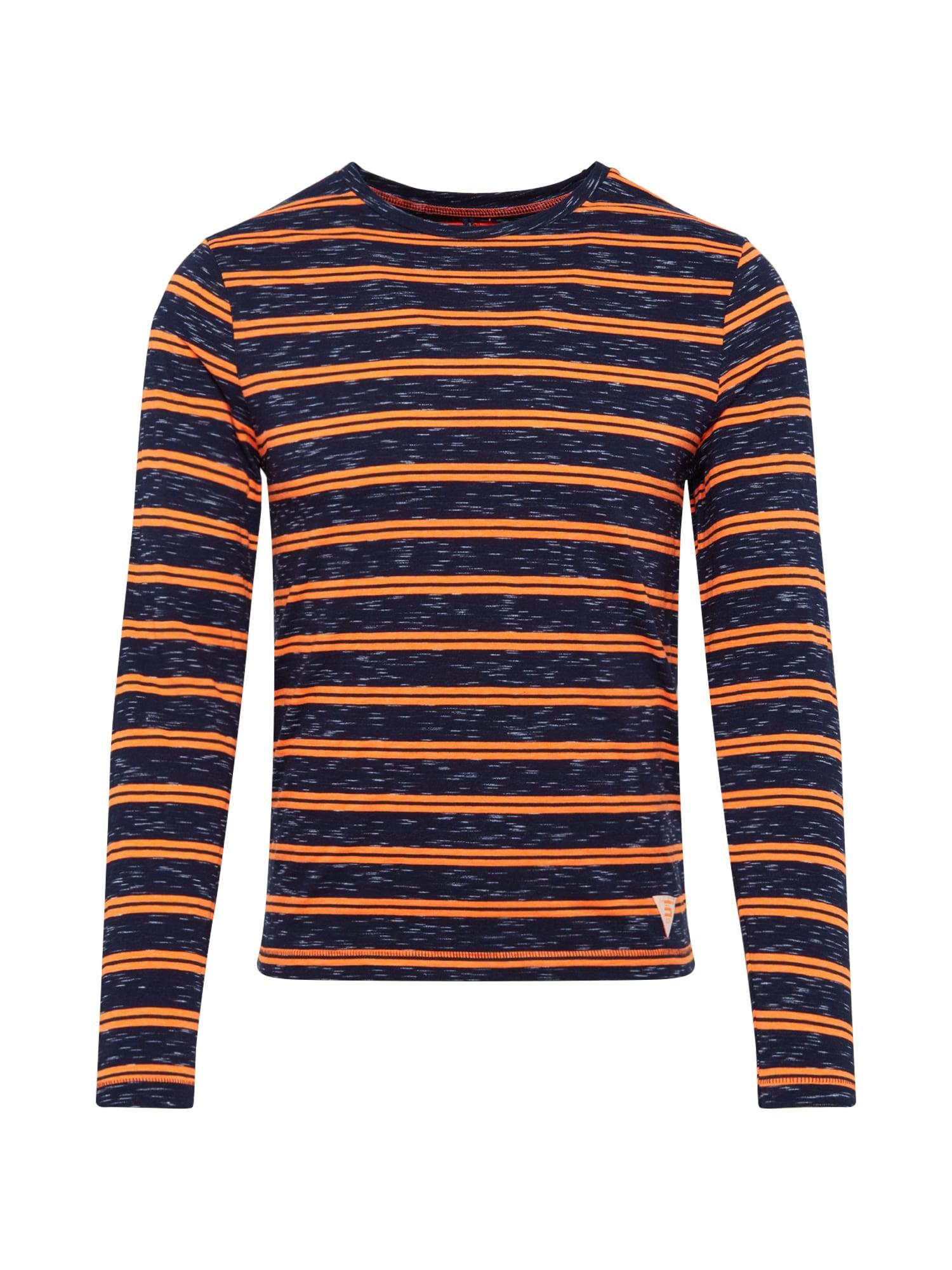 CINQUE Marškinėliai 'CINELO' oranžinė / juoda