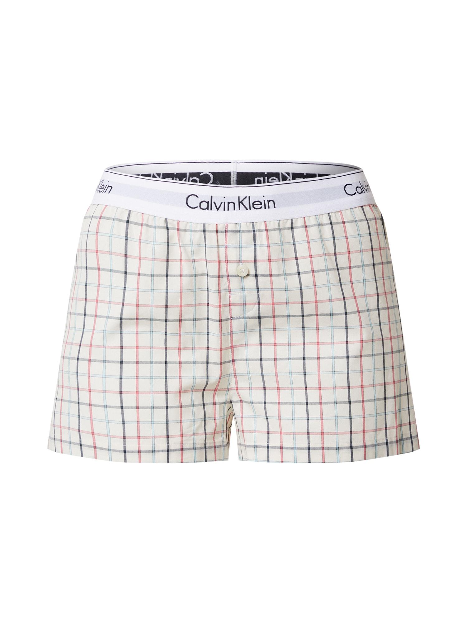 Calvin Klein Underwear Pyžamo 'SLEEP SHORT'  béžová / bílá