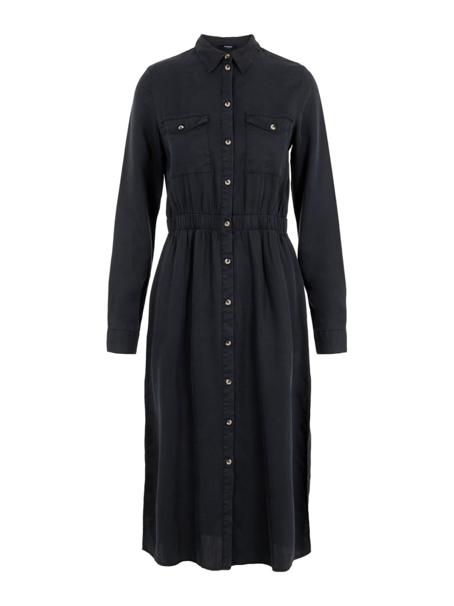 PIECES Palaidinės tipo suknelė 'PCNOLA' juodo džinso spalva