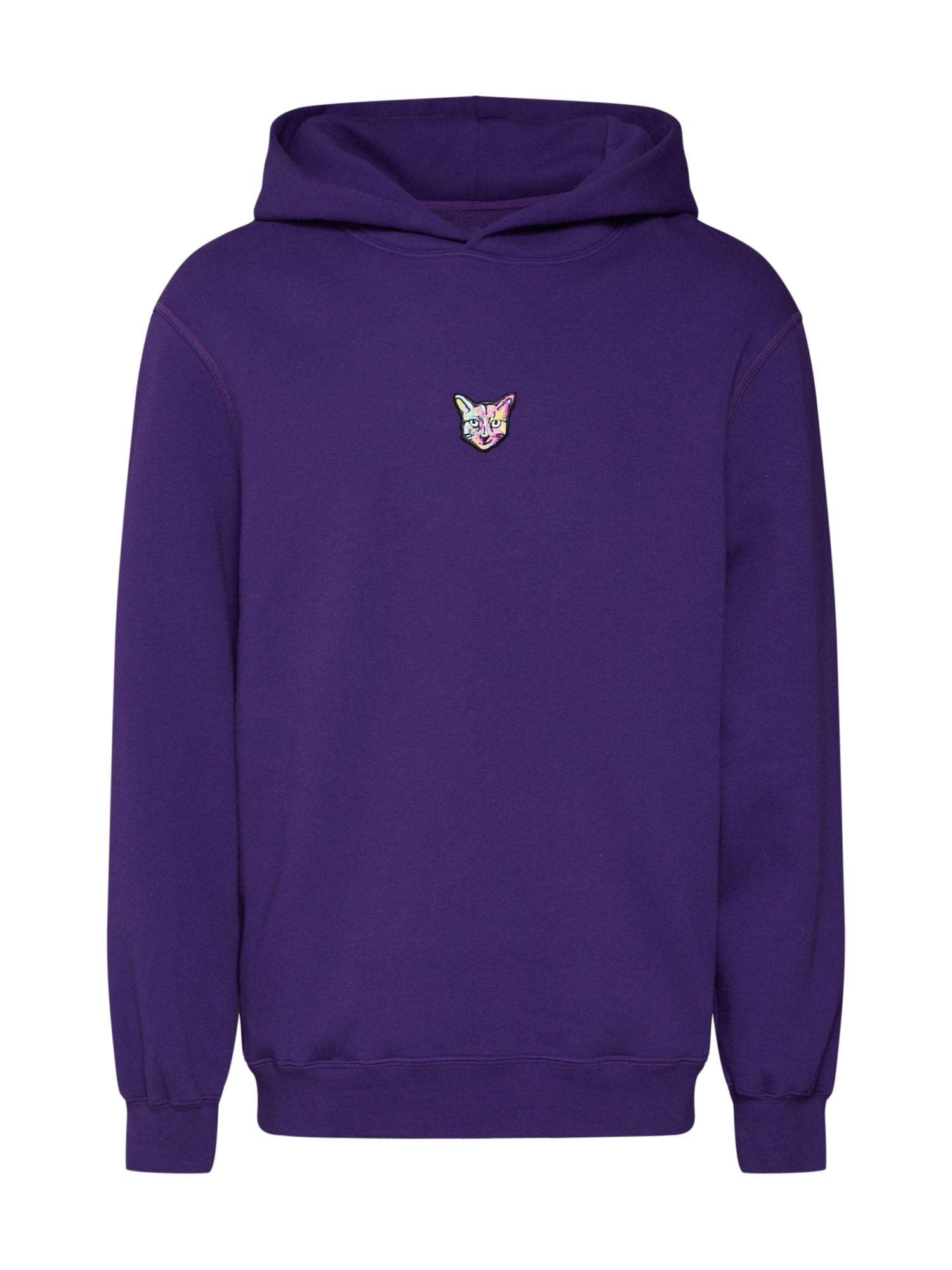 ABOUT YOU X PARI Megztinis be užsegimo 'Pelin' slyvų spalva