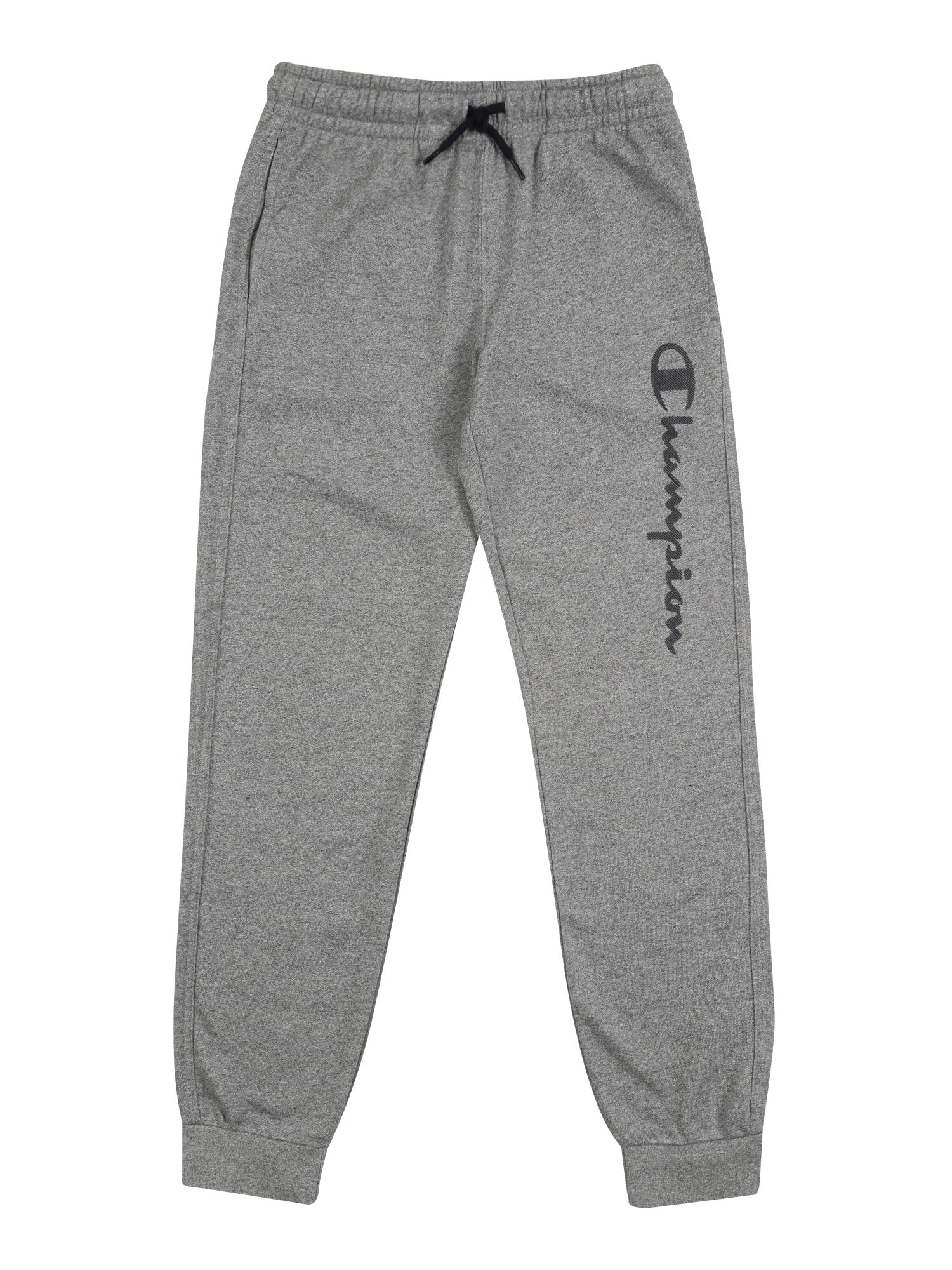 Champion Authentic Athletic Apparel Športové nohavice 'RIB CUFF'  sivá melírovaná