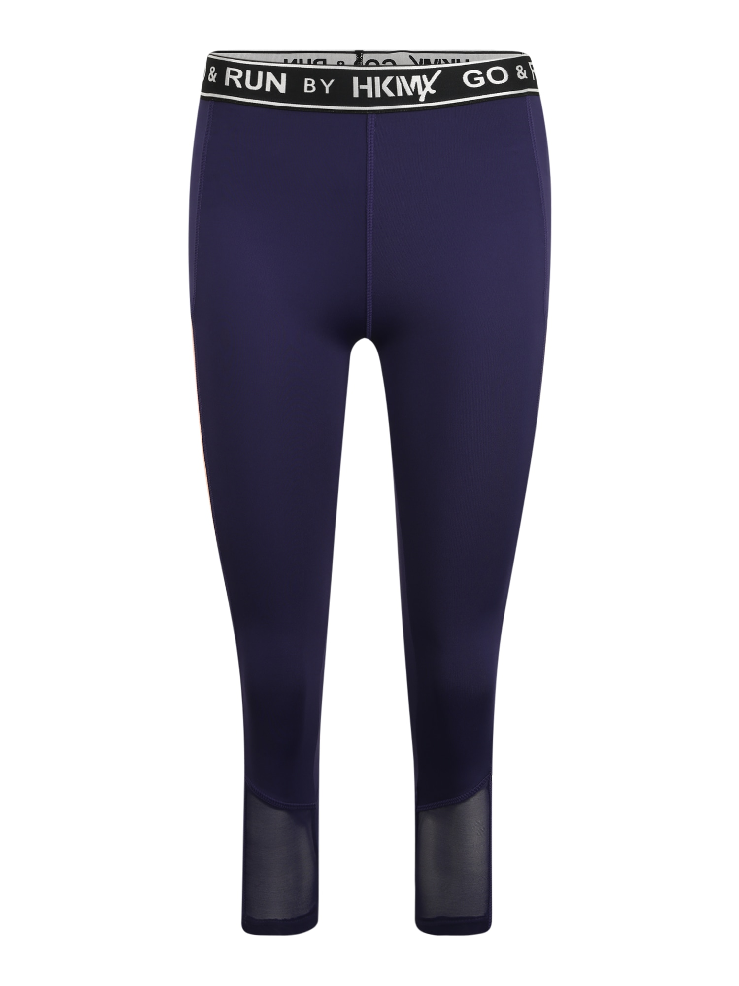 HKMX Športové nohavice  námornícka modrá / biela / čierna / staroružová