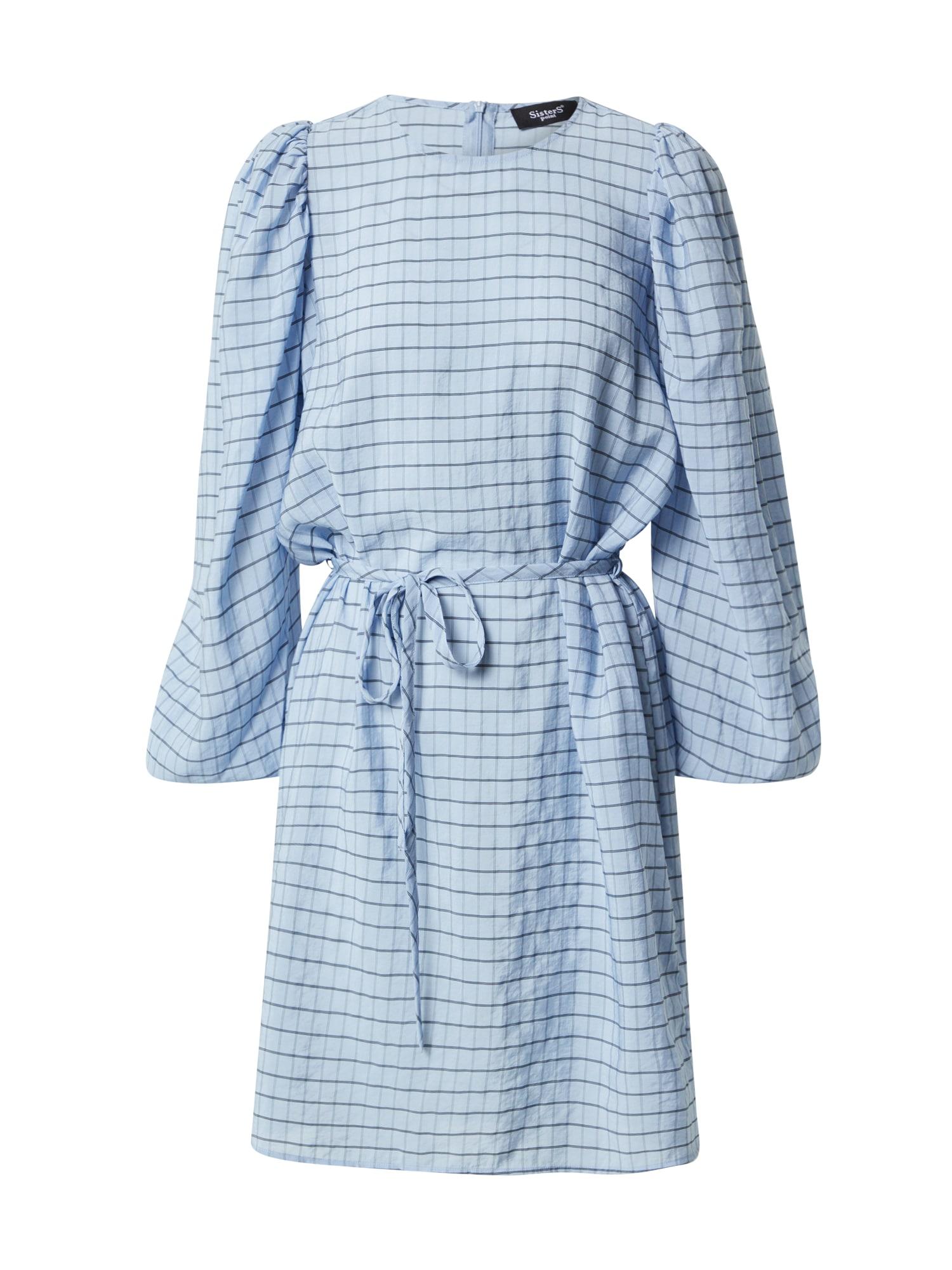 SISTERS POINT Šaty 'TILLA'  svetlomodrá / námornícka modrá