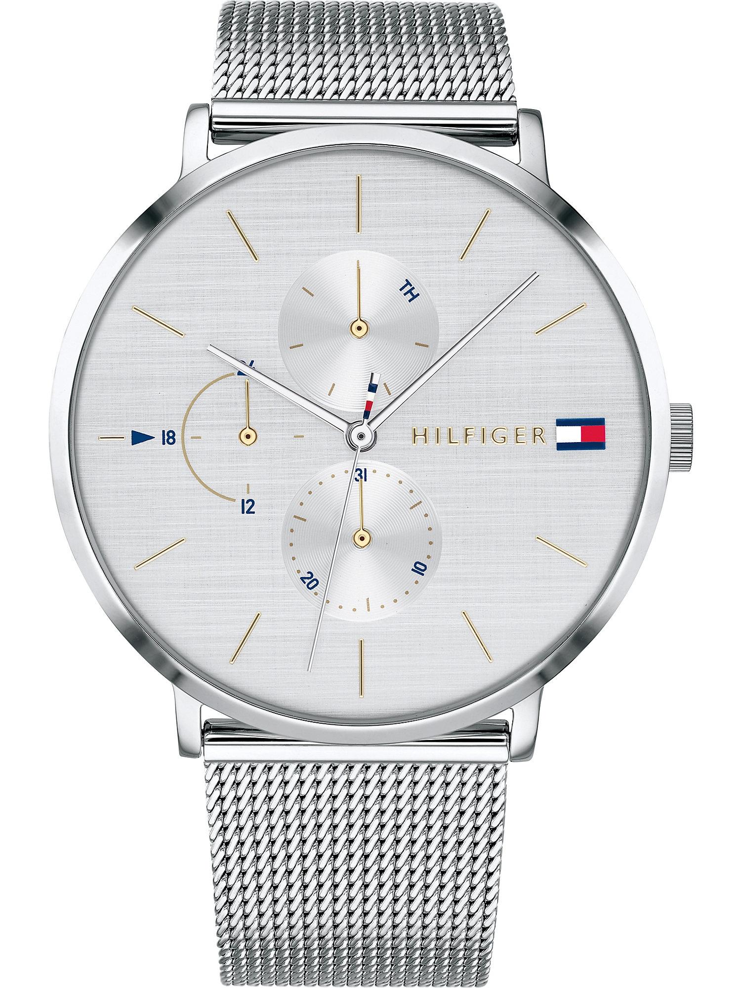 TOMMY HILFIGER Analoginis (įprasto dizaino) laikrodis sidabrinė