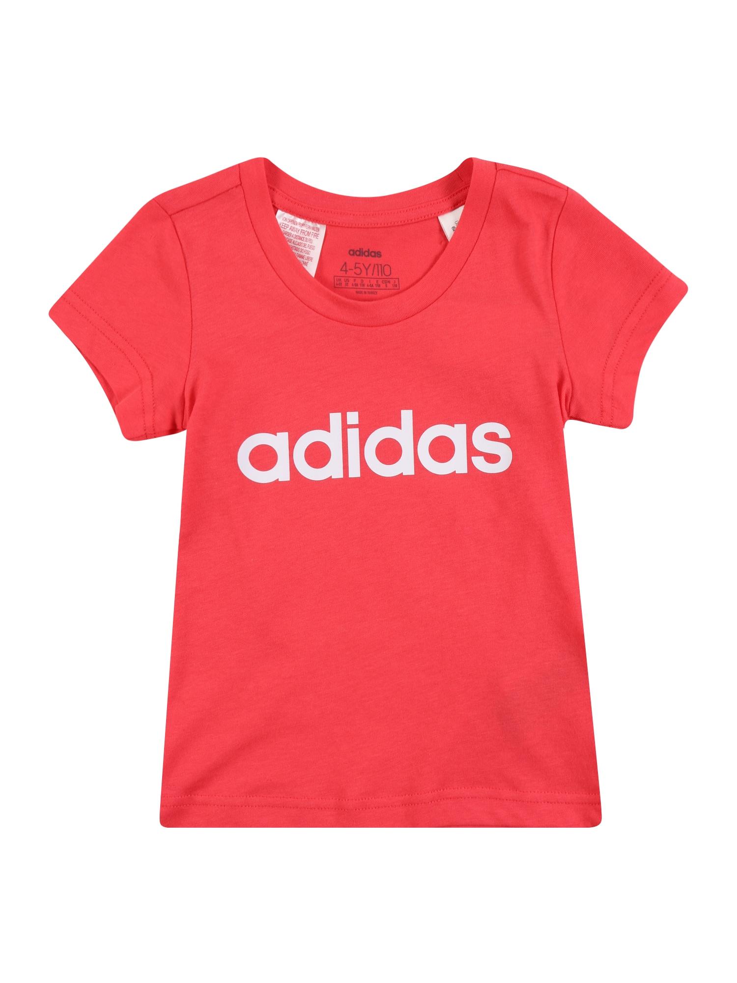 ADIDAS PERFORMANCE Sportiniai marškinėliai 'YG E LIN TEE' rožinė