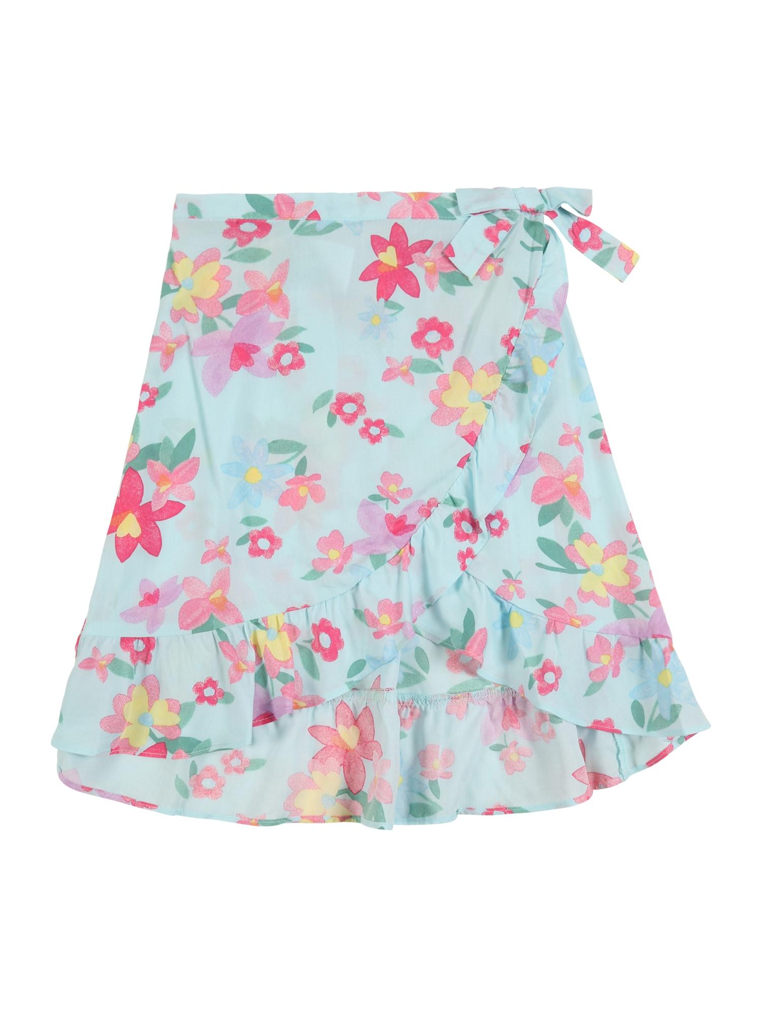 Carter's Sijonas 'Easter Collection S20 floral wrap skirt' pastelinė mėlyna / mišrios spalvos