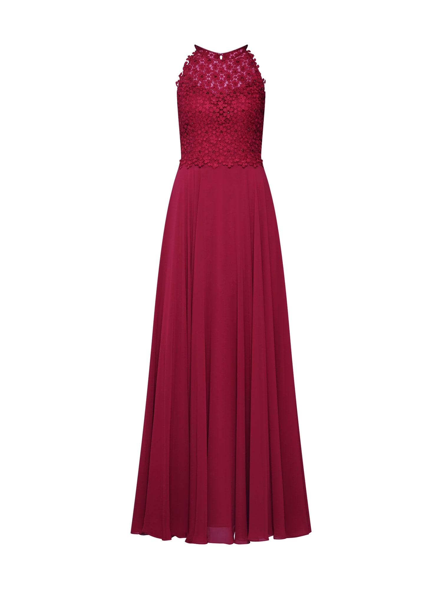 LUXUAR Vakarinė suknelė uogų spalva