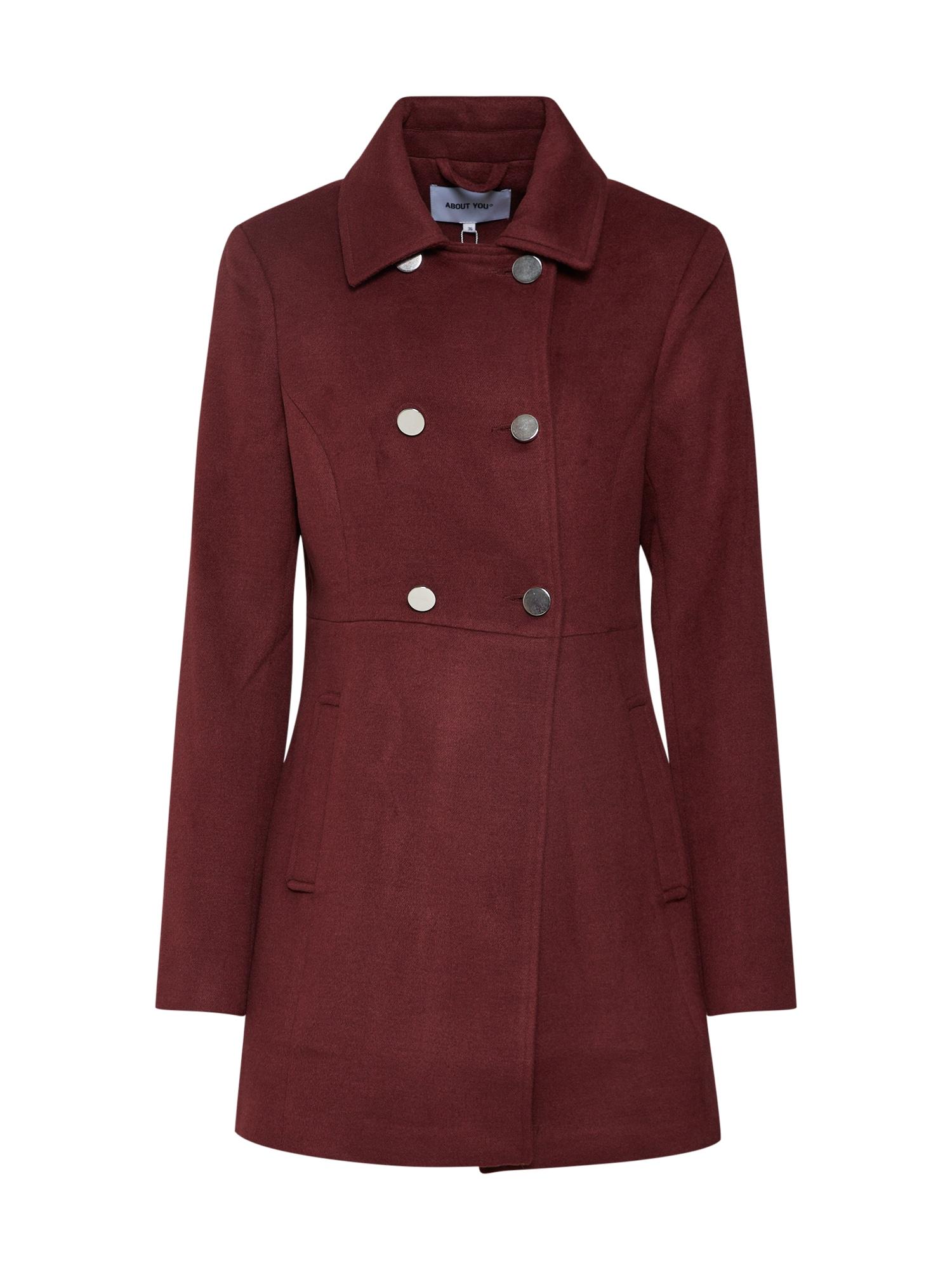 ABOUT YOU Rudeninis-žieminis paltas 'Dina' vyšninė spalva