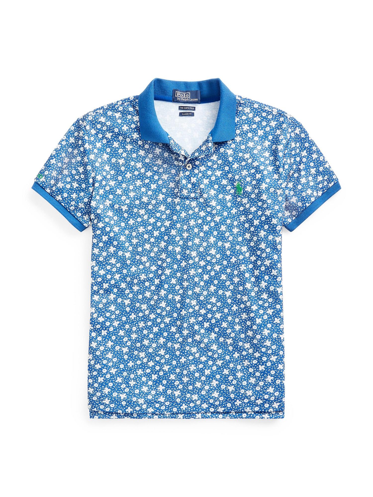 POLO RALPH LAUREN Marškinėliai 'PRNT CLSC FT' mėlyna / balta
