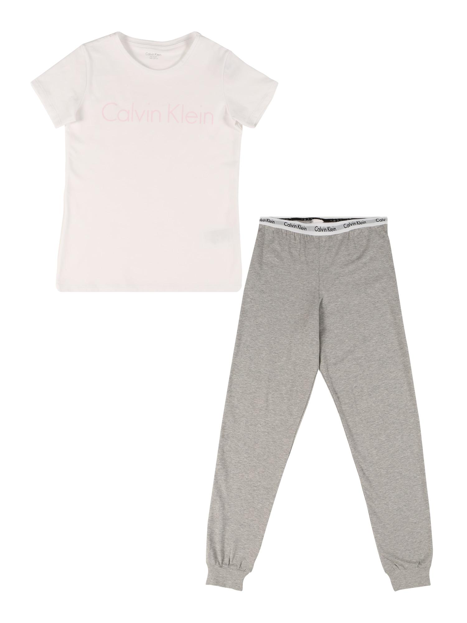 Calvin Klein Underwear Miego kostiumas balta / pilka