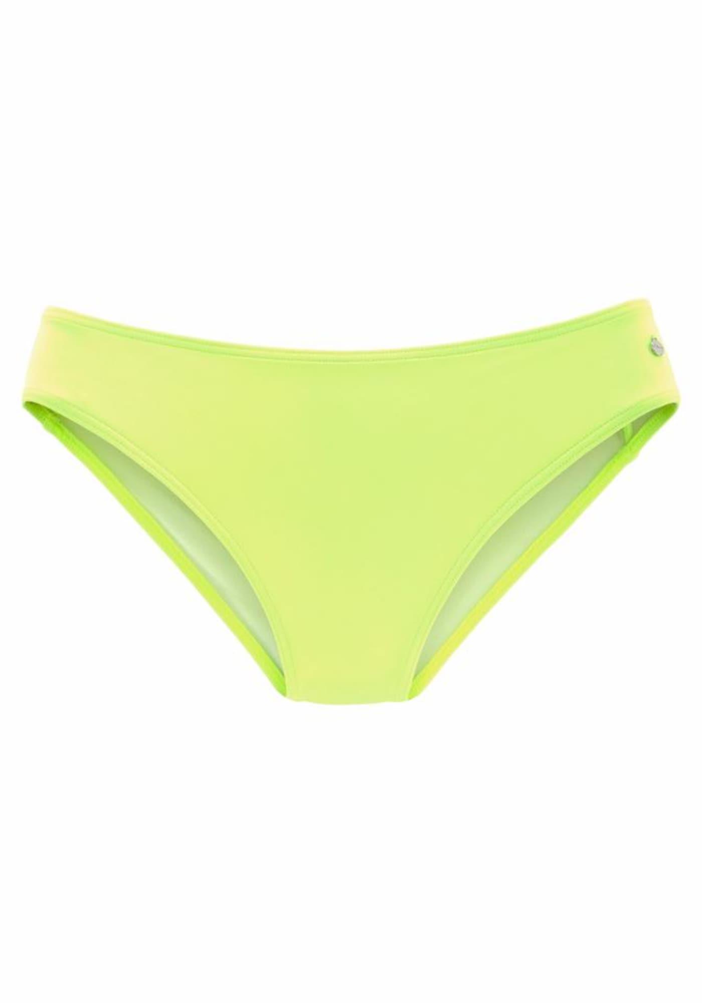 s.Oliver Bikinio kelnaitės neoninė geltona / žaliosios citrinos spalva
