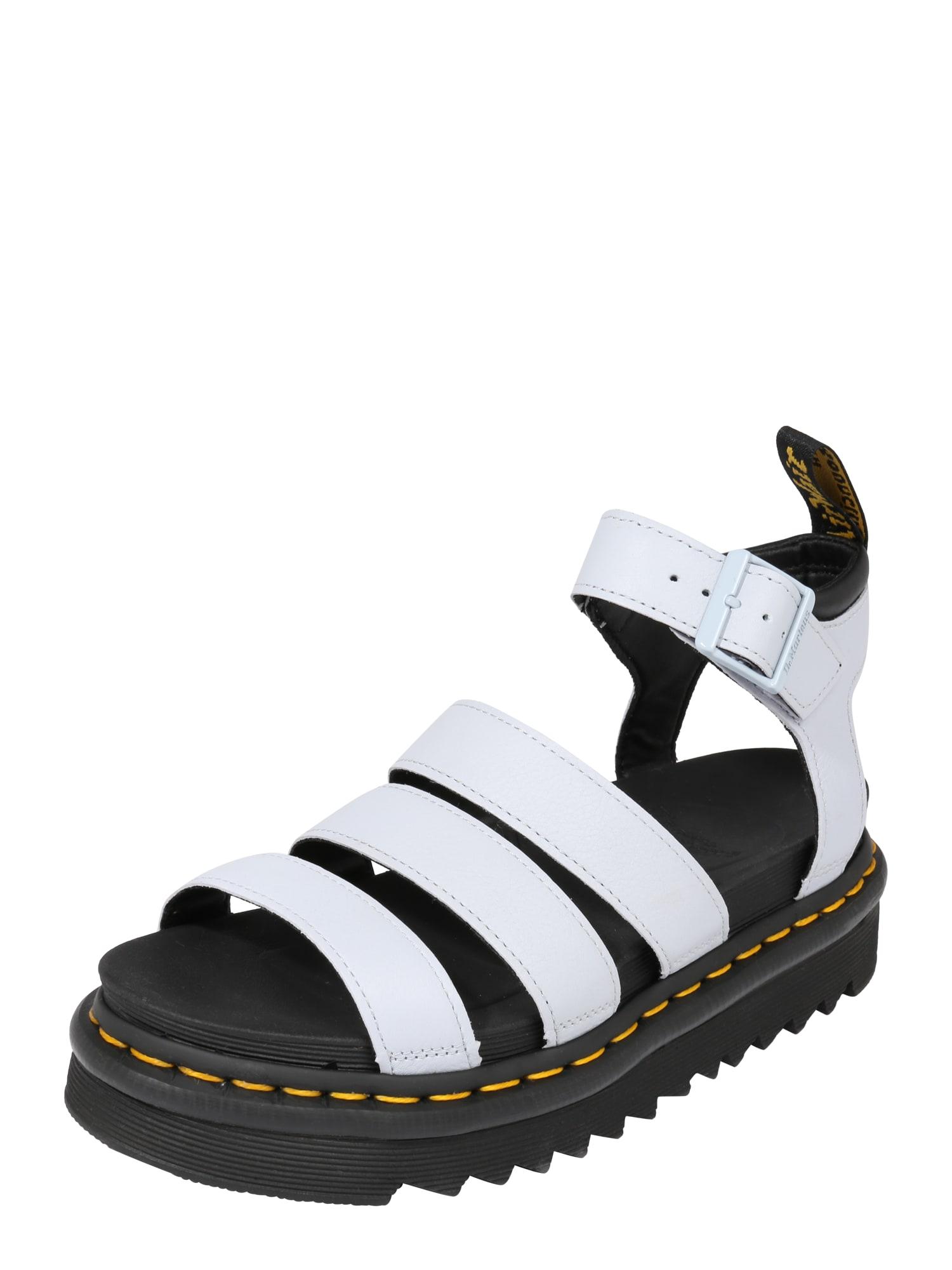 Páskové sandály Chunky Blaire světlemodrá offwhite Dr. Martens