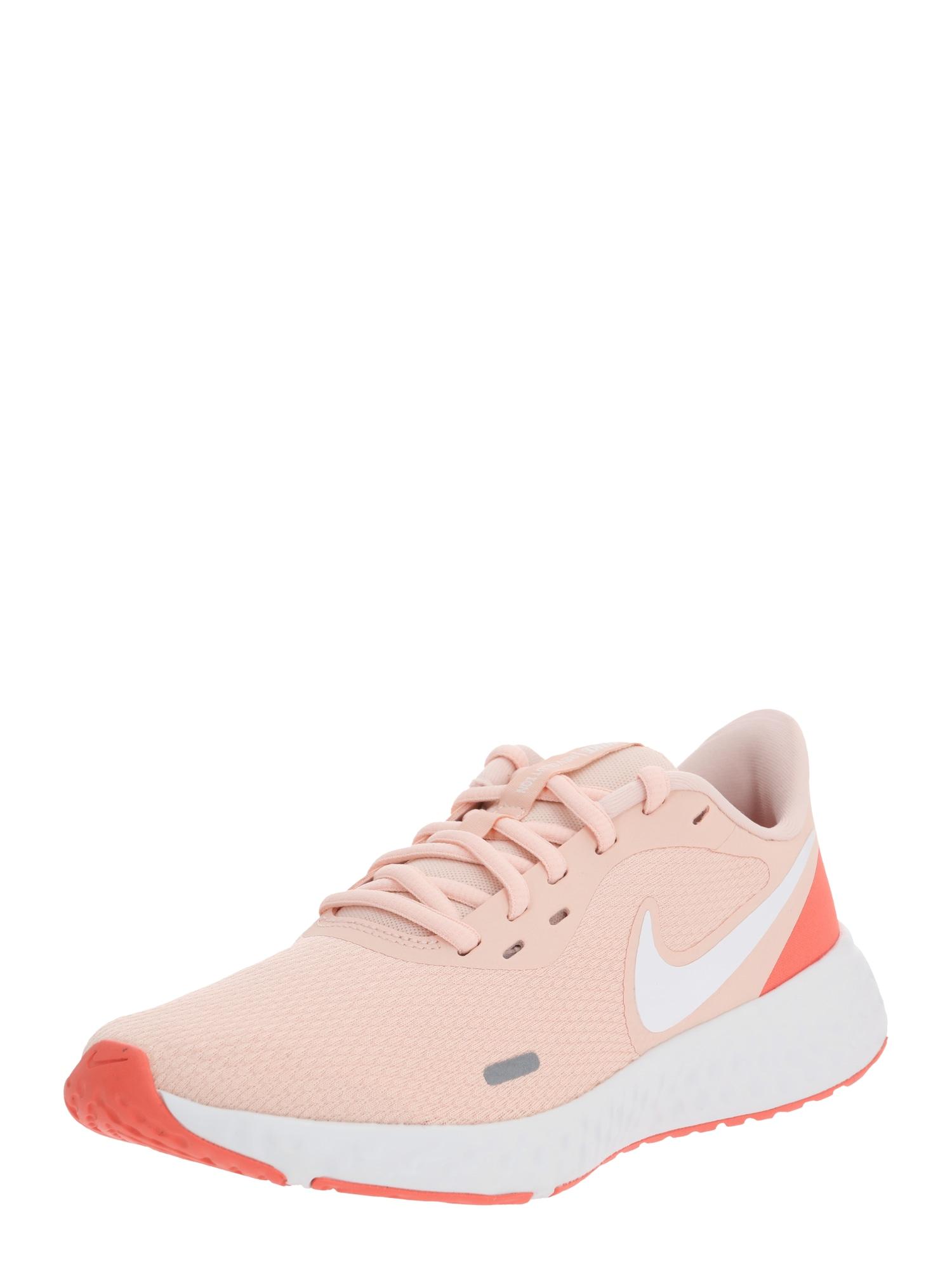 NIKE Nízke tenisky 'Nike Revolution 5'  biela / broskyňová