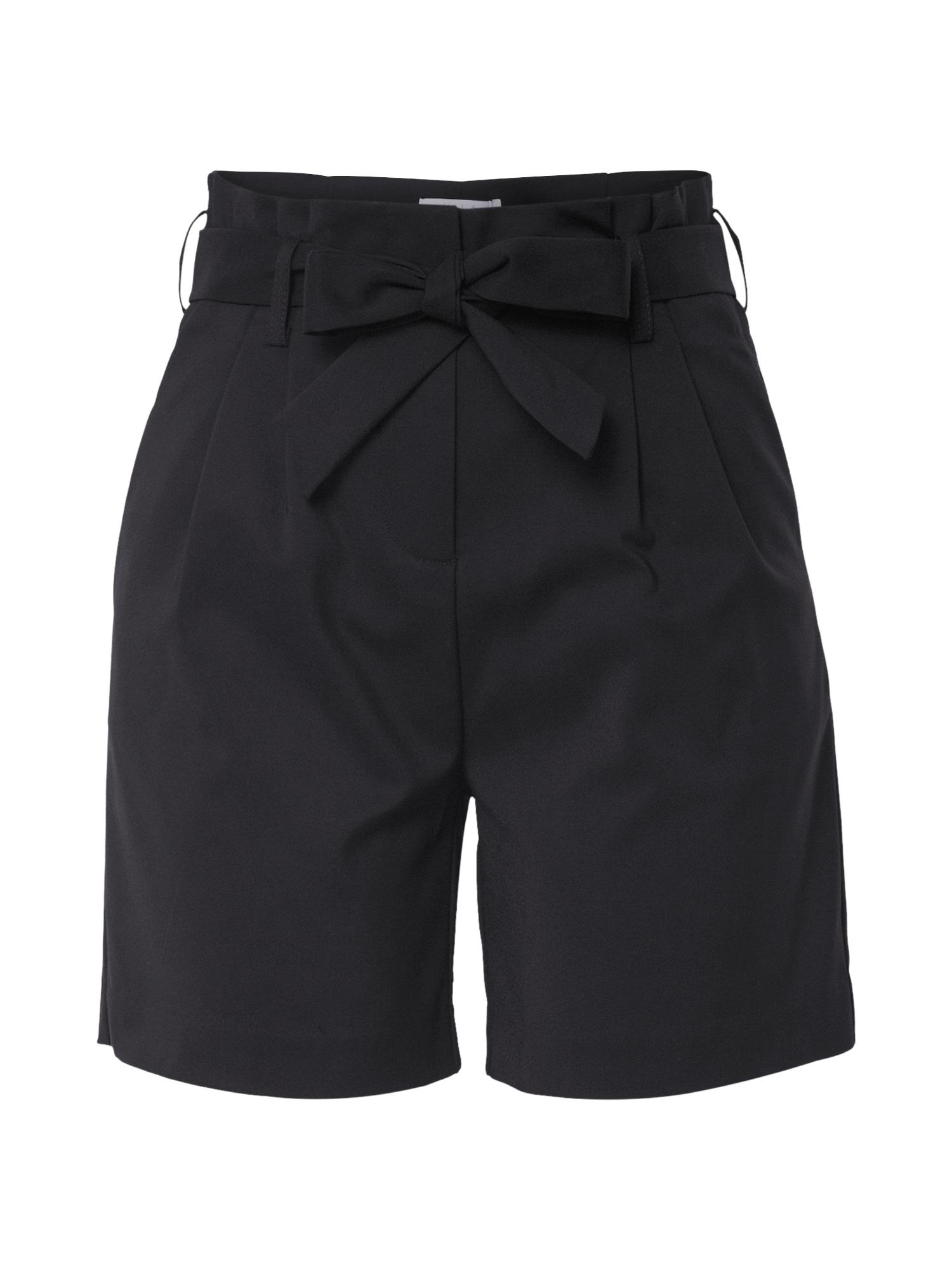 VILA Kalhoty se sklady v pase 'Visofina'  černá