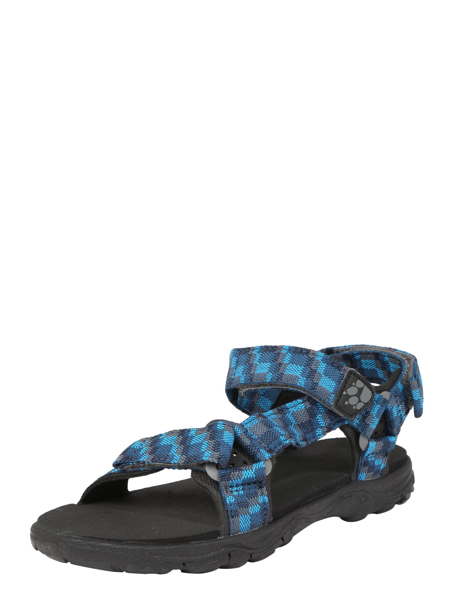 JACK WOLFSKIN Sandalai 'Seven Seas 2' mėlyna / juoda