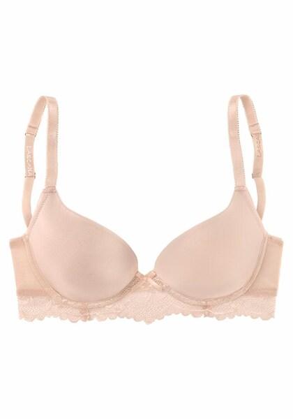 Waesche für Frauen - T Shirt BH mit Schale › Lascana › apricot  - Onlineshop ABOUT YOU