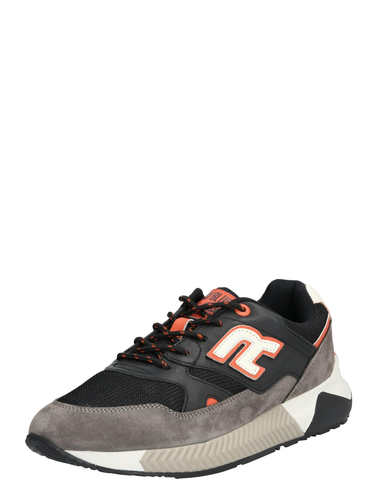 REPLAY Sneaker low 'CUNNAGER'  gri / negru / alb