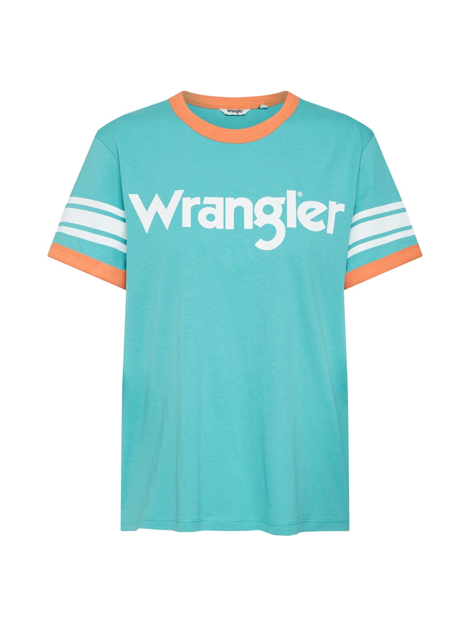 Tričko Sporty Tee tyrkysová jasně oranžová WRANGLER