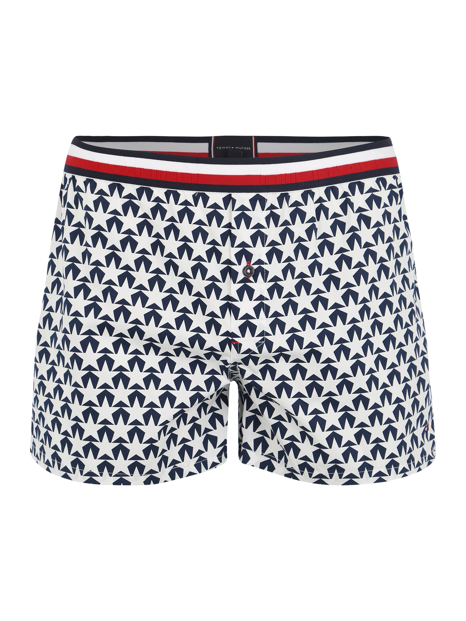 Tommy Hilfiger Underwear Boxerky 'WOVEN BOXER STAR'  modré / biela