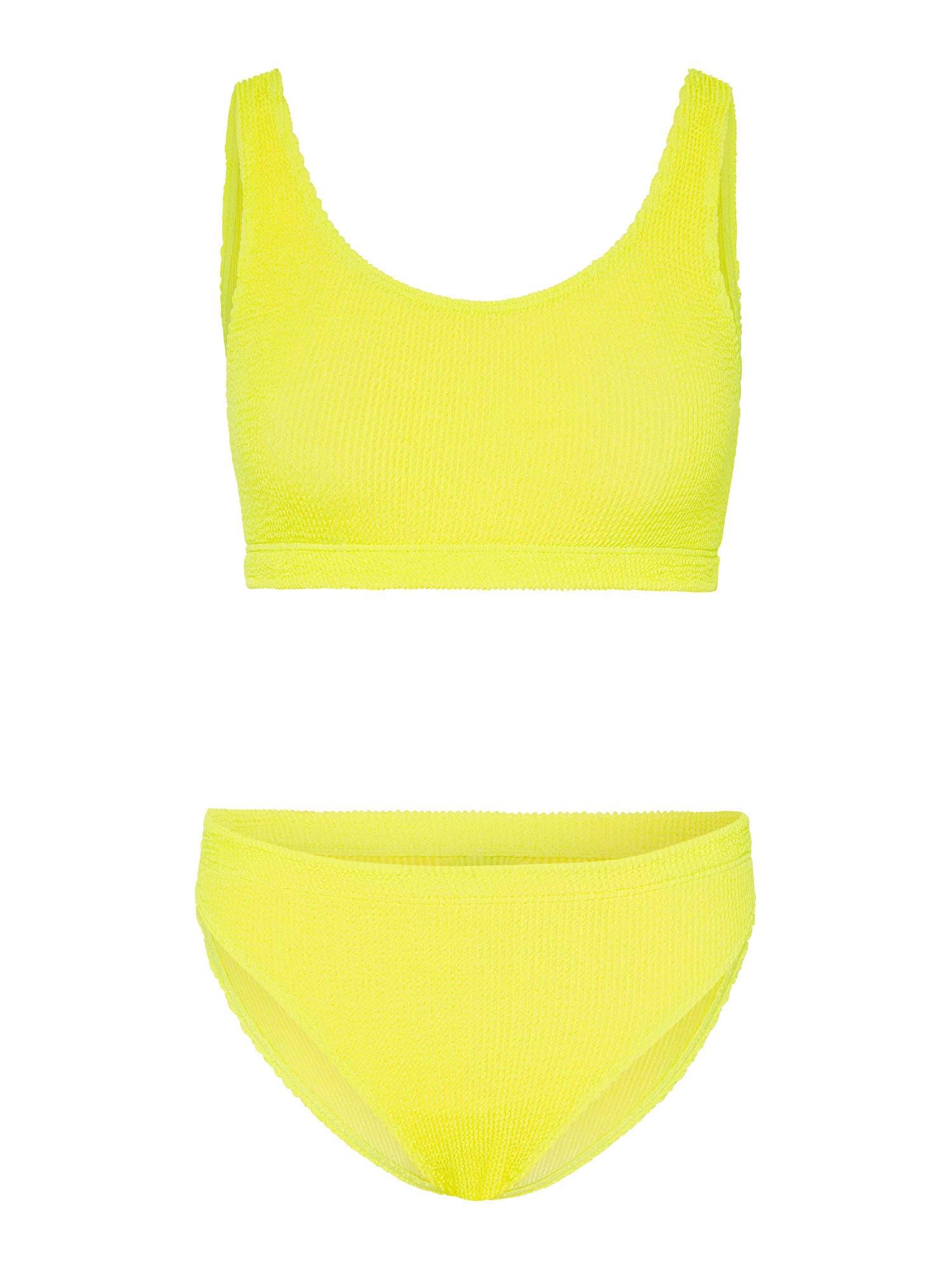 CHIEMSEE Sportinis bikinis neoninė geltona