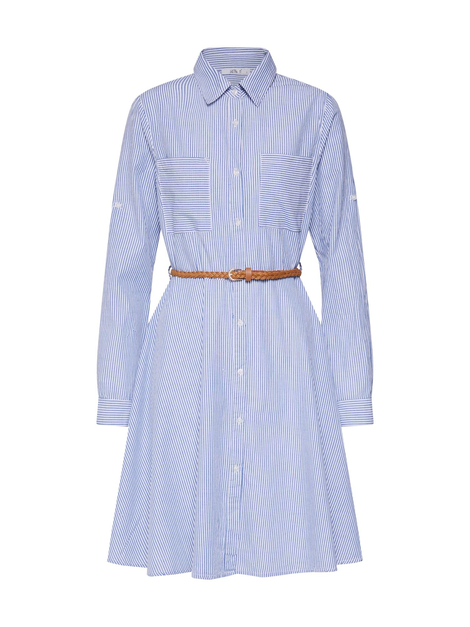 Košilové šaty Clea modrá bílá Hailys