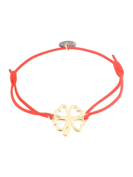 Armbaender für Frauen - Lua Accessories Armband 'Clover' gold rot  - Onlineshop ABOUT YOU