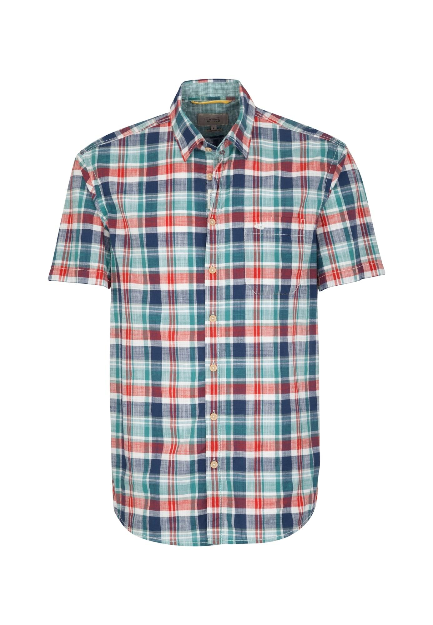 CAMEL ACTIVE Košeľa  biela / modré / zelená / červené