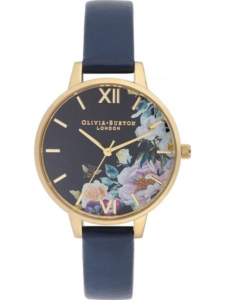 Uhren für Frauen - Uhr 'Enchanted Garden OB16EG113' › Olivia Burton › navy gold  - Onlineshop ABOUT YOU