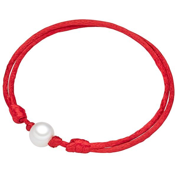 Armbaender für Frauen - Valero Pearls Satinarmband mit Süßwasser Zuchtperle rot weiß  - Onlineshop ABOUT YOU
