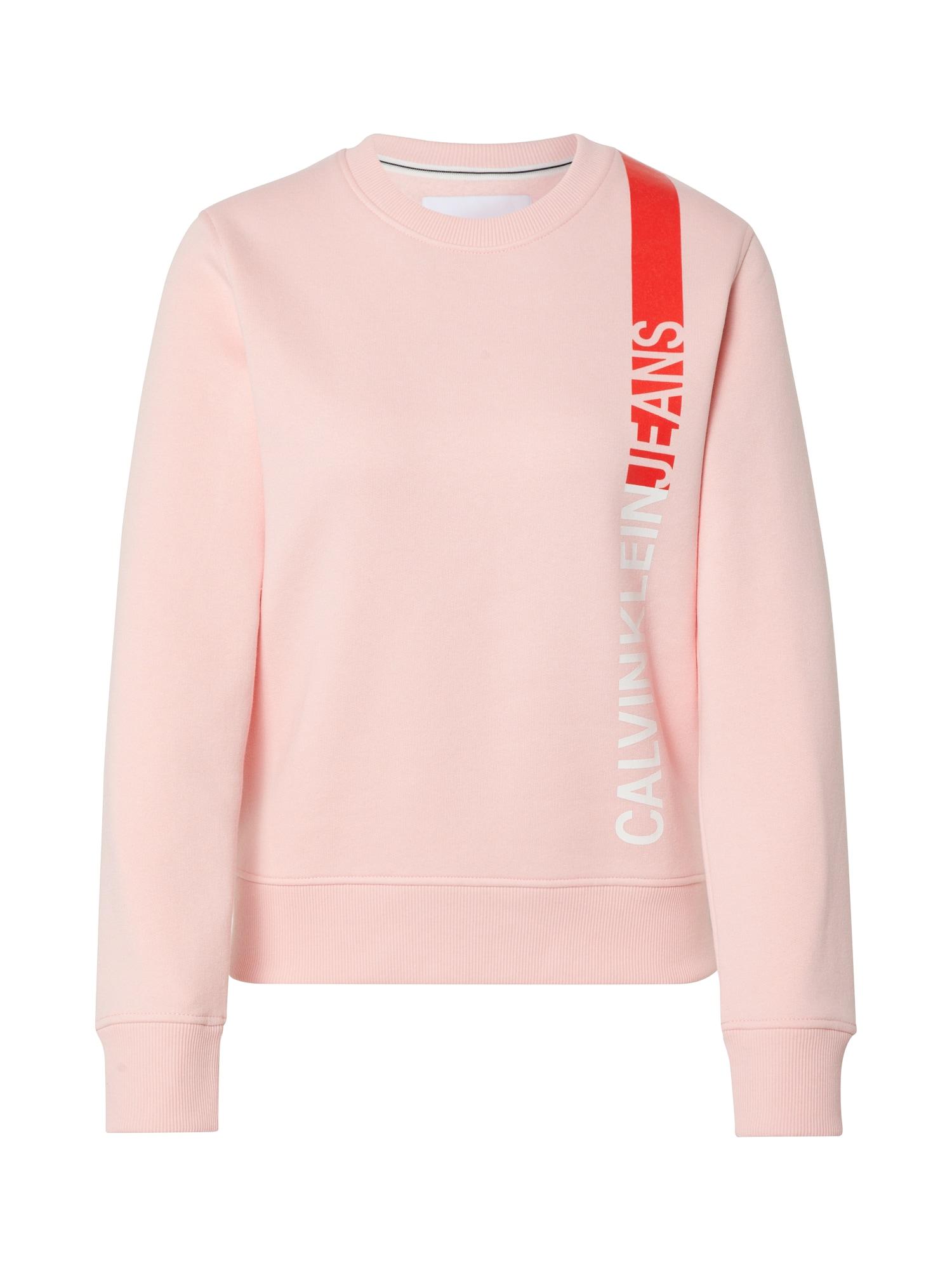 Calvin Klein Jeans Megztinis be užsegimo rožių spalva / raudona