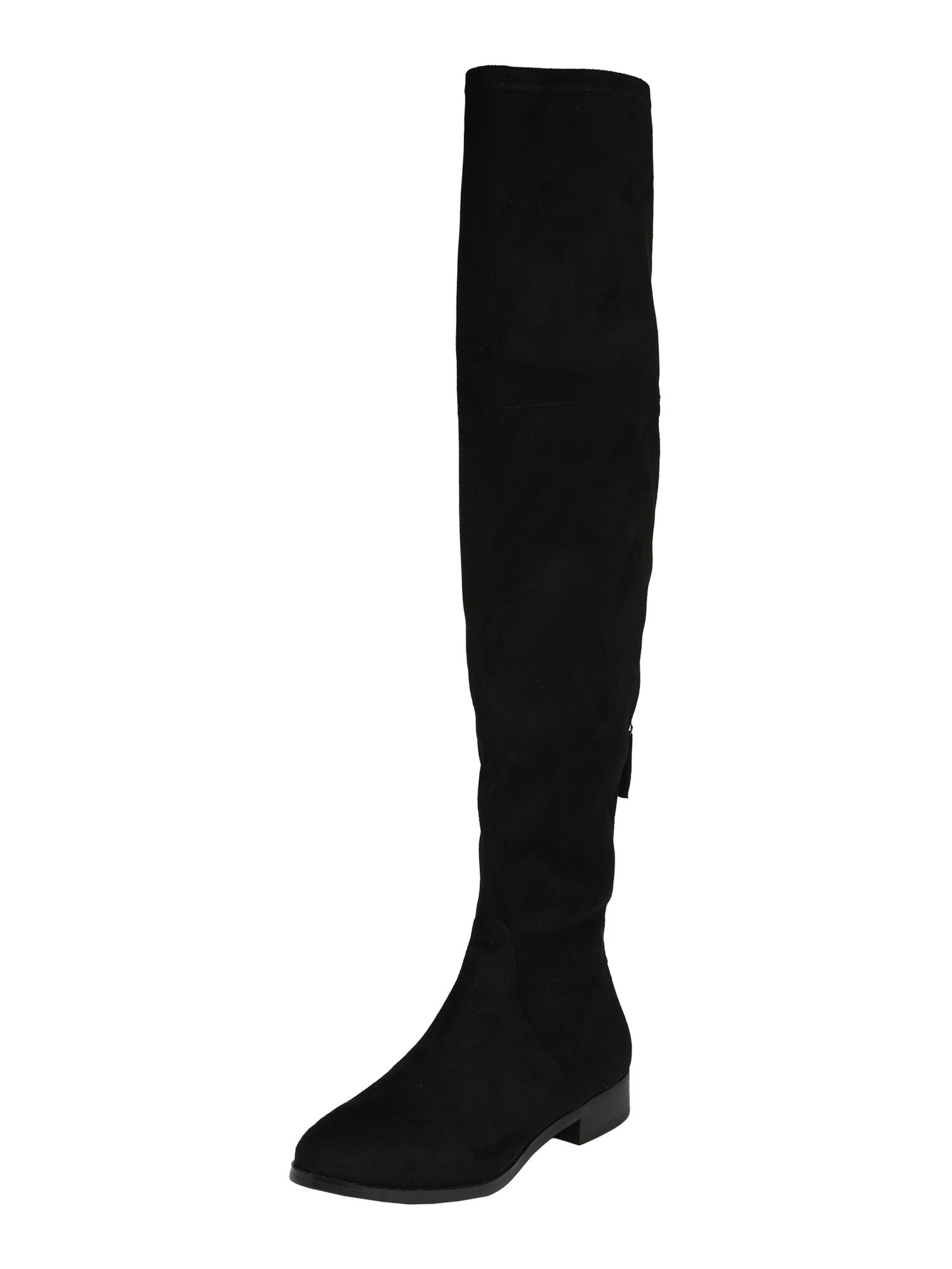Kozačky nad kolena ODESSA černá STEVE MADDEN