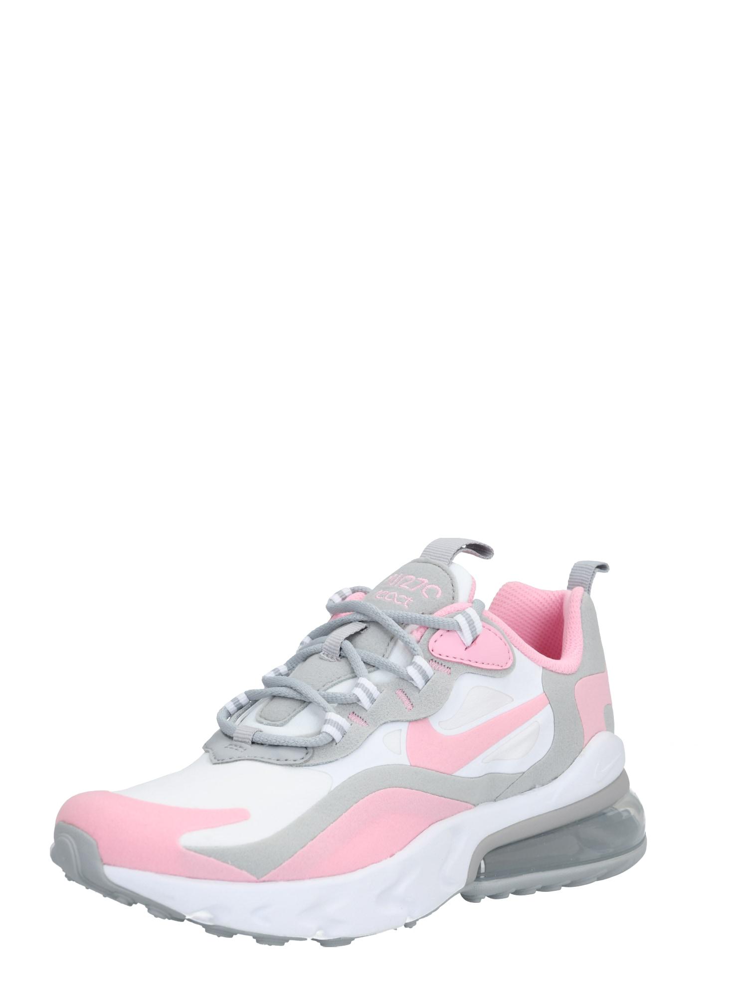 Nike Sportswear Tenisky 'Nike Air Max 270 React'  strieborná / biela / ružová