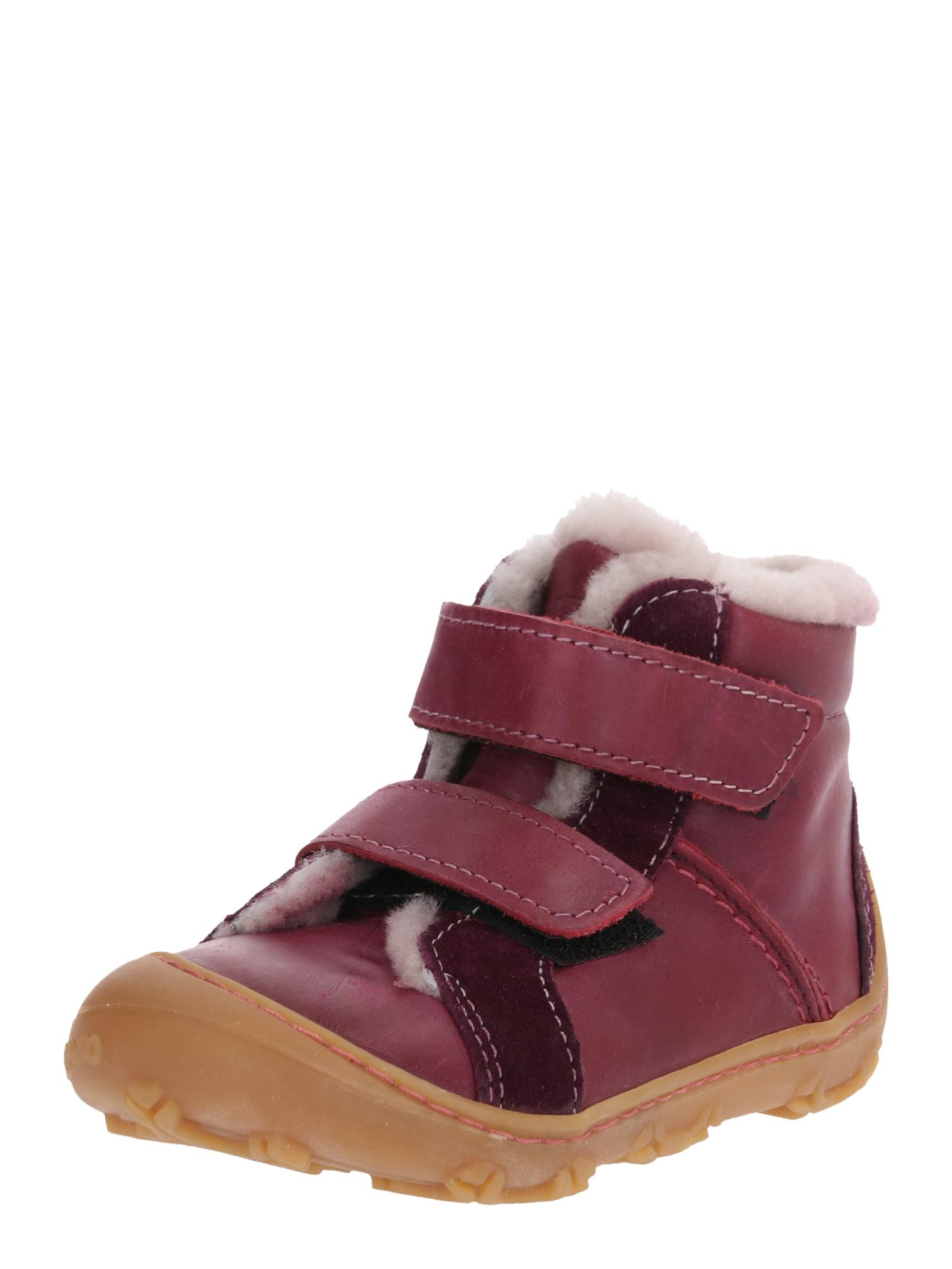 Pepino Pirmieji vaiko vaikščiojimo bateliai 'LIAS' skaisti avietinė ar rubino spalva