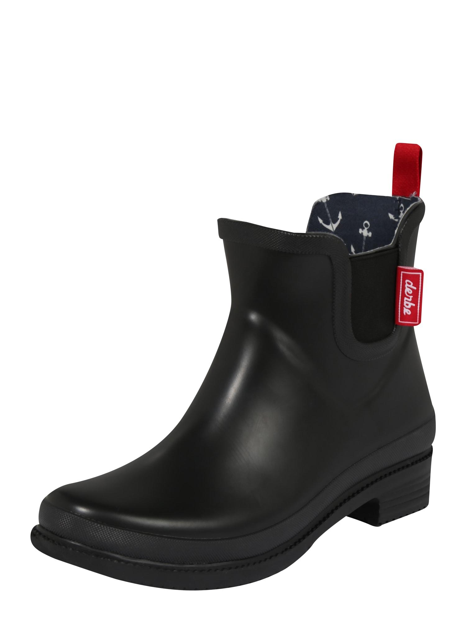 Derbe Guminiai batai 'Taai-Botten' juoda