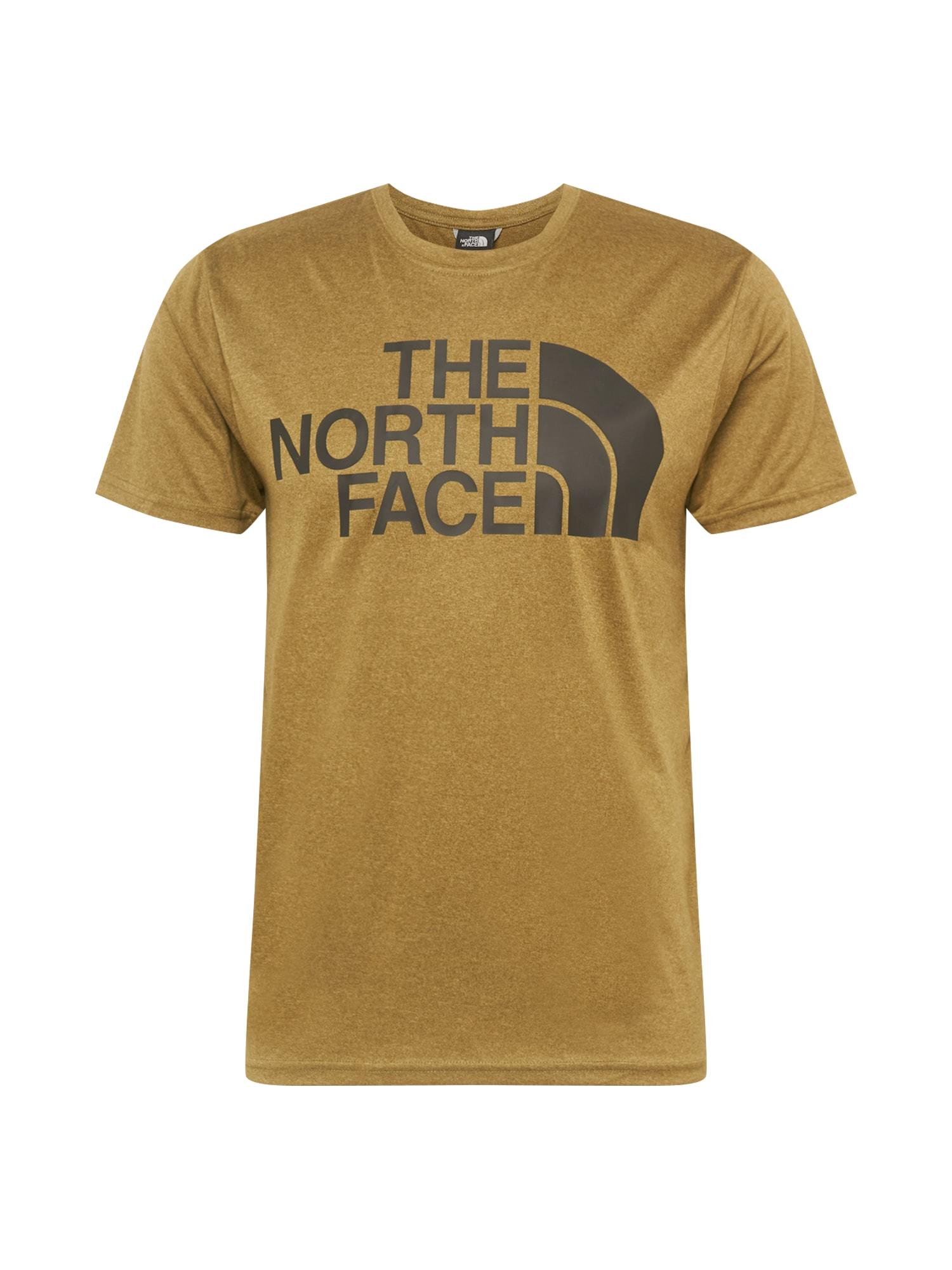 THE NORTH FACE Funkční tričko  khaki / černá