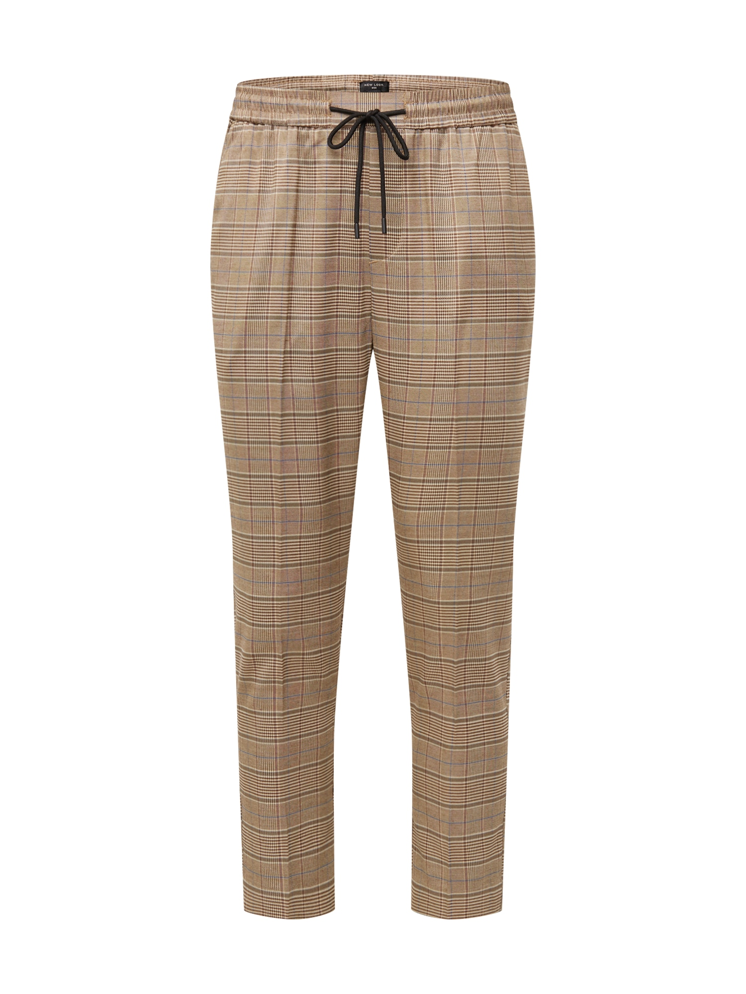Kalhoty s puky RPFMA 19.10.18 BRUCE CHECK PULL ON hnědá NEW LOOK