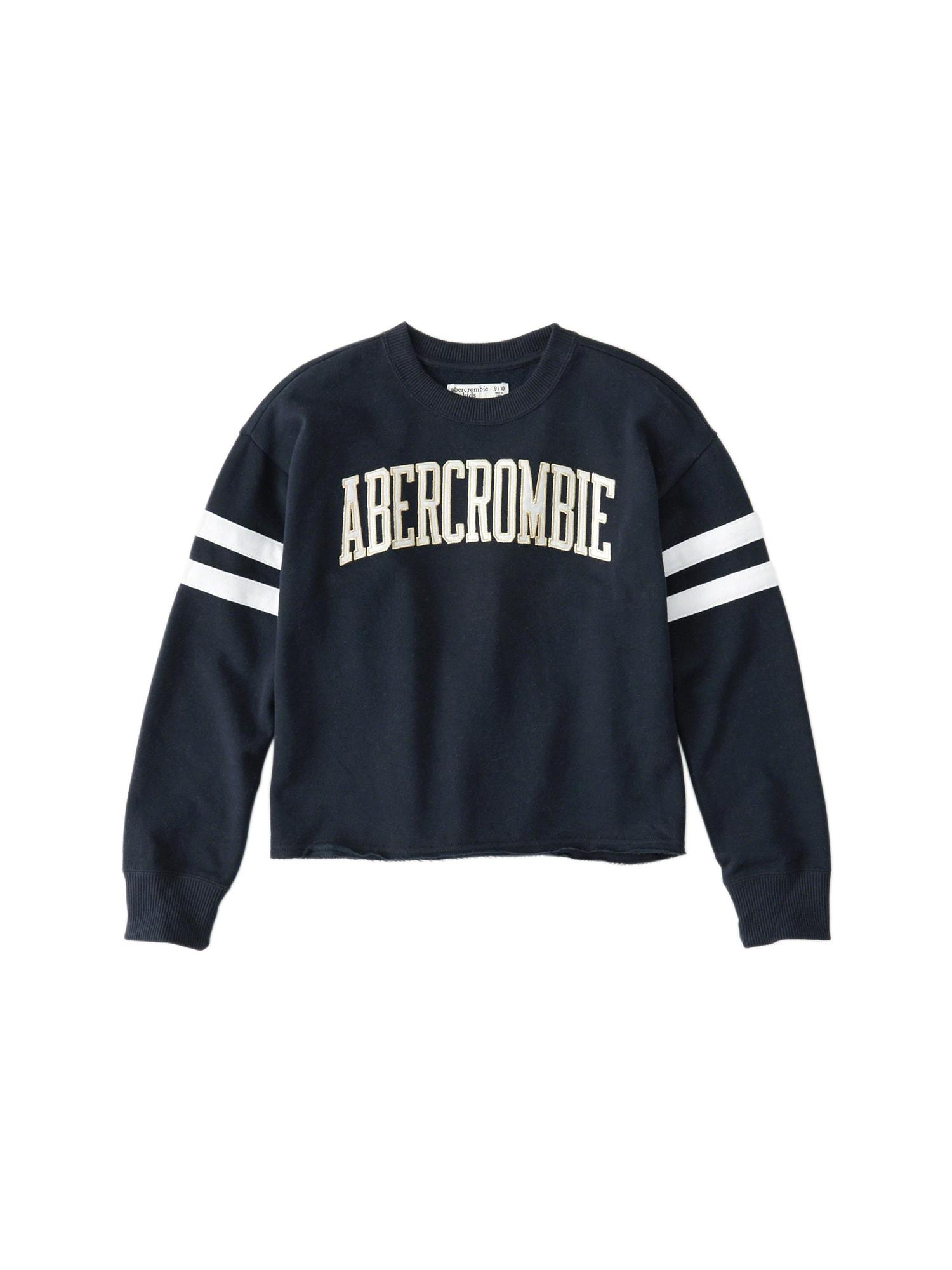 Abercrombie & Fitch Megztinis be užsegimo 'JUN 4 SPORTY SLV STRIPE CREW 4CC' tamsiai mėlyna