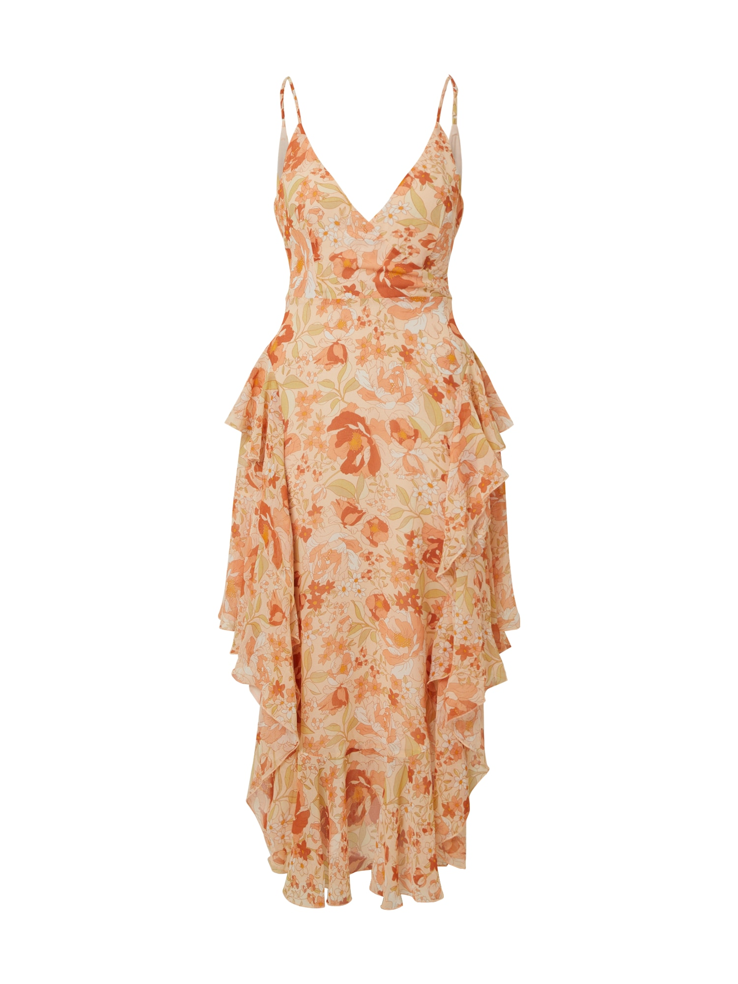 Bardot Suknelė 'ROCHELLE' rožių spalva / oranžinė