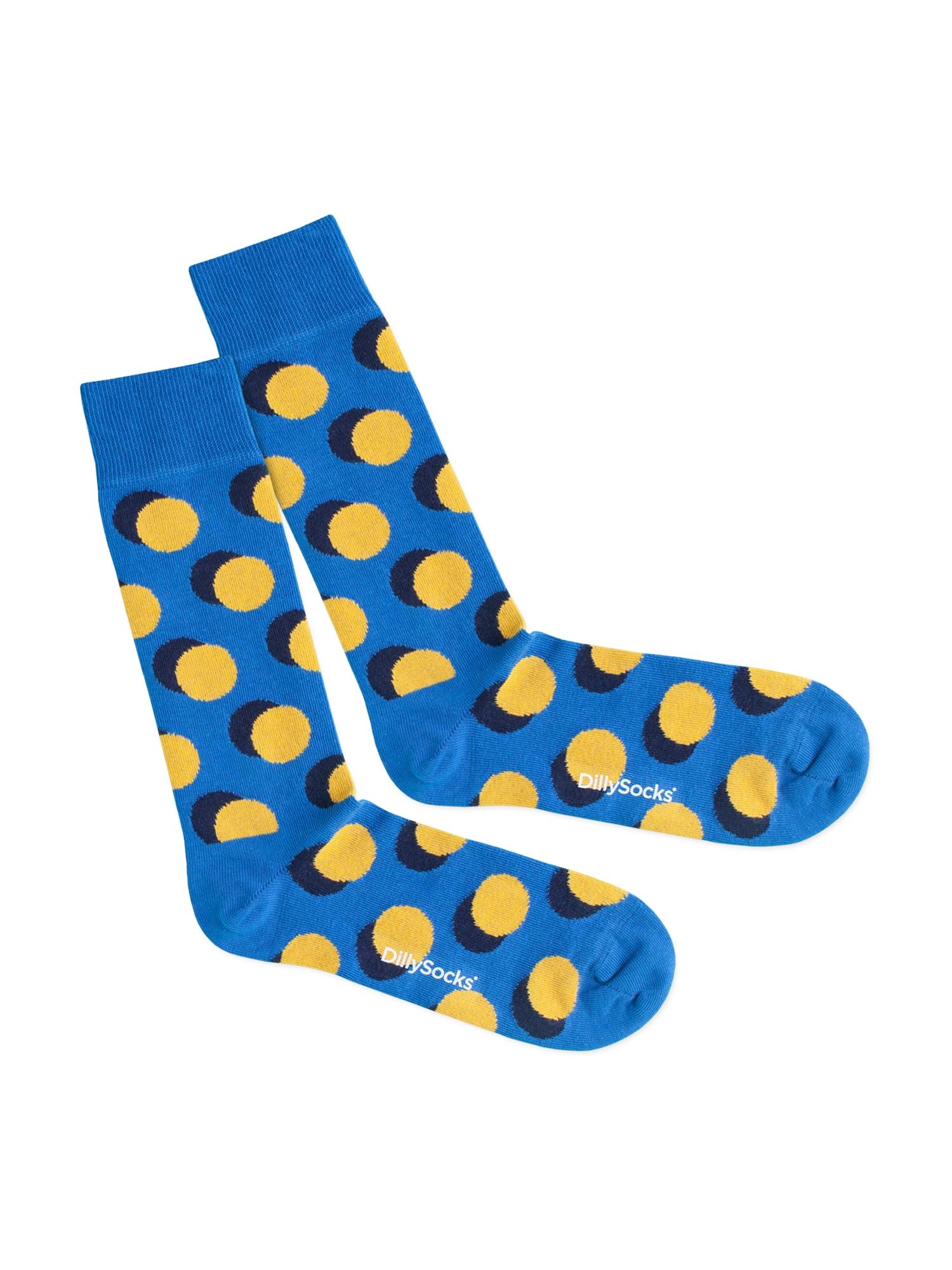 DillySocks Kojinės 'Water Shadow' geltona / mėlyna
