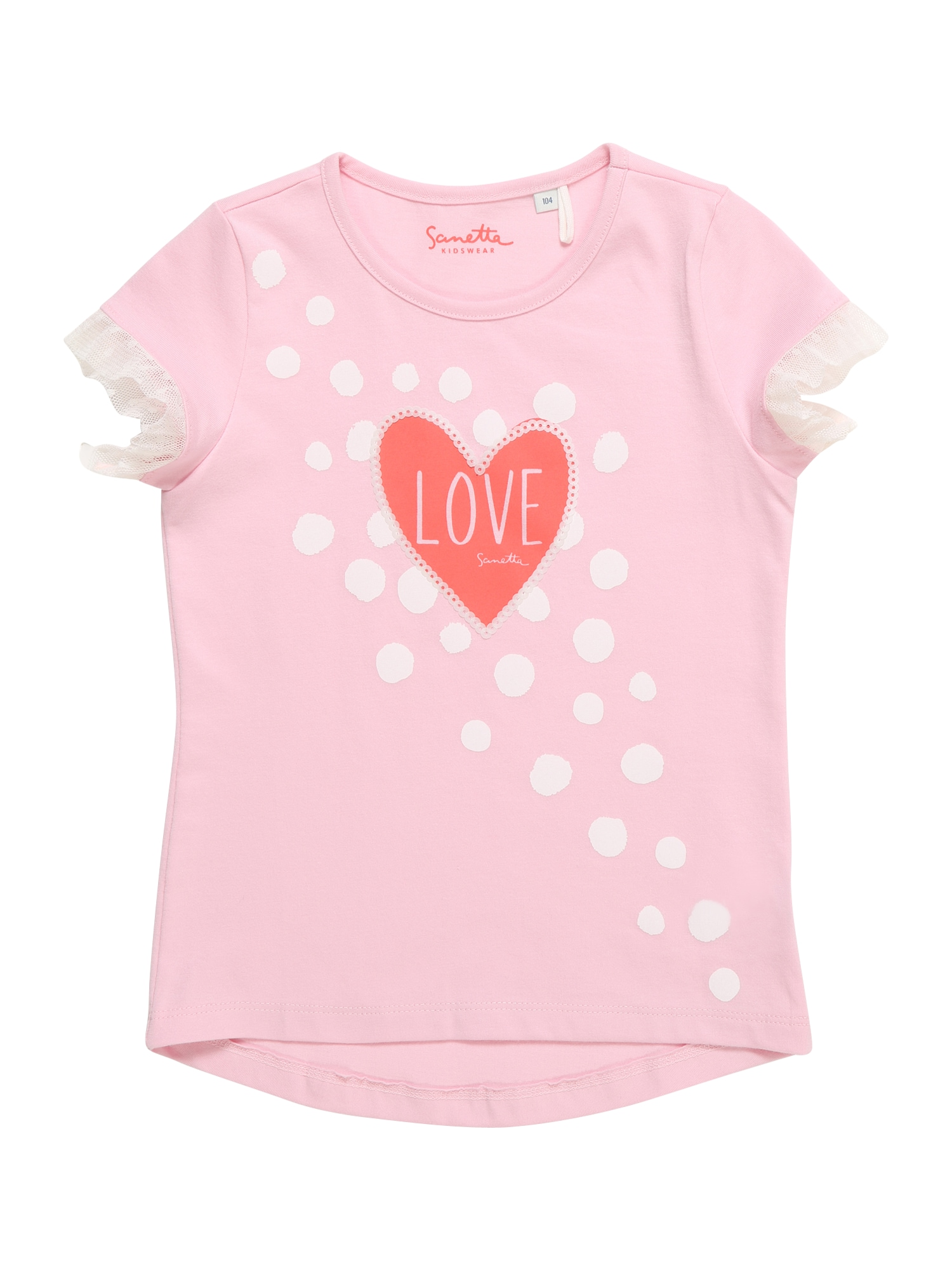 Tričko pink Sanetta Kidswear
